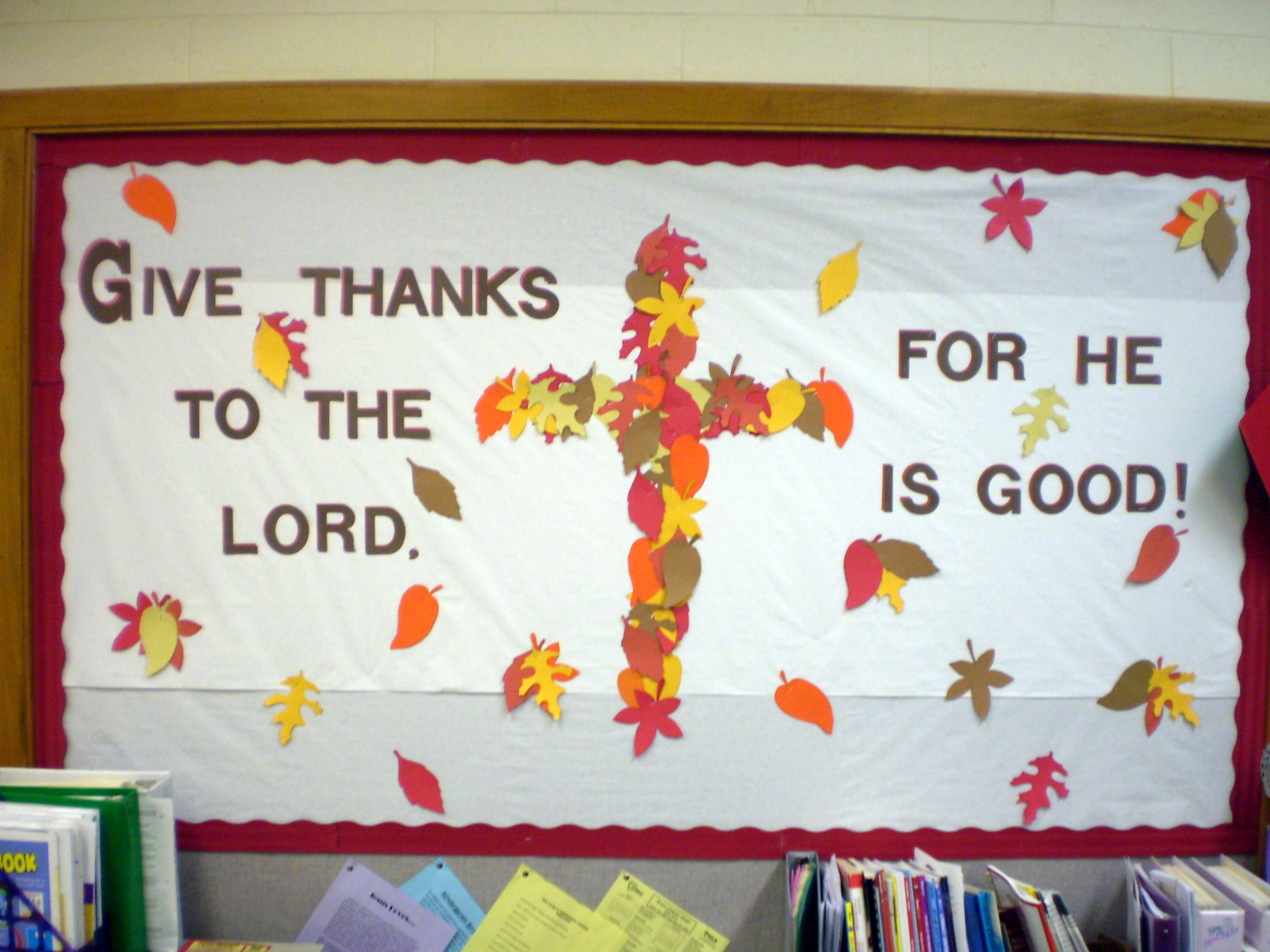 thanksgiving bulletin boards for high school