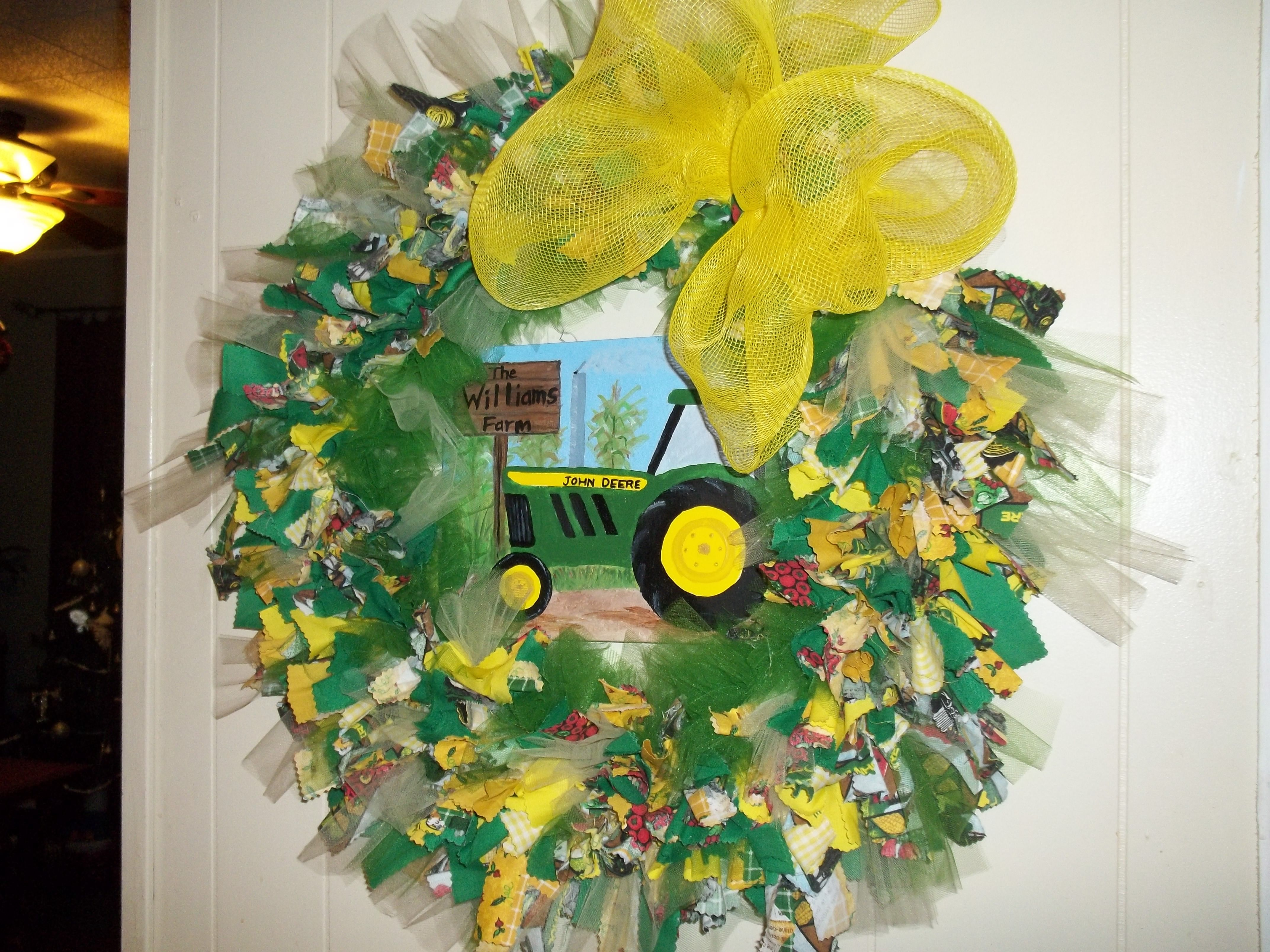 John Deere Rag Wreath
