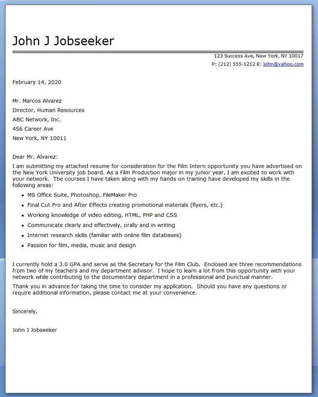 Resume for film internship sample internship resume buckey thecheapjerseys Images