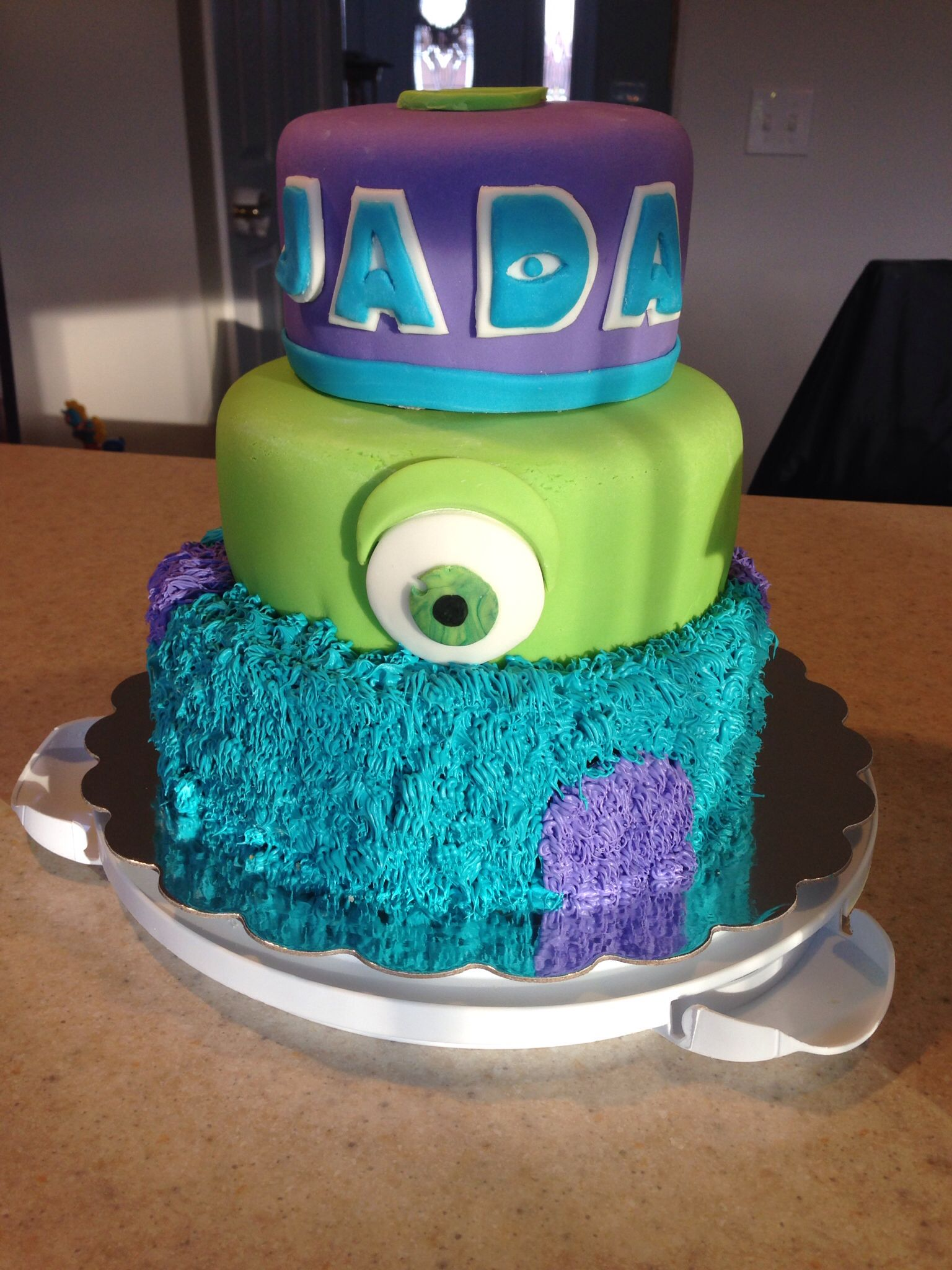 monster inc birthday cakes