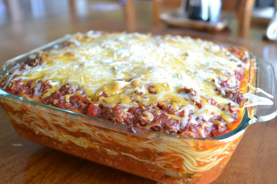 Baked spaghetti | Yummy Things | Pinterest