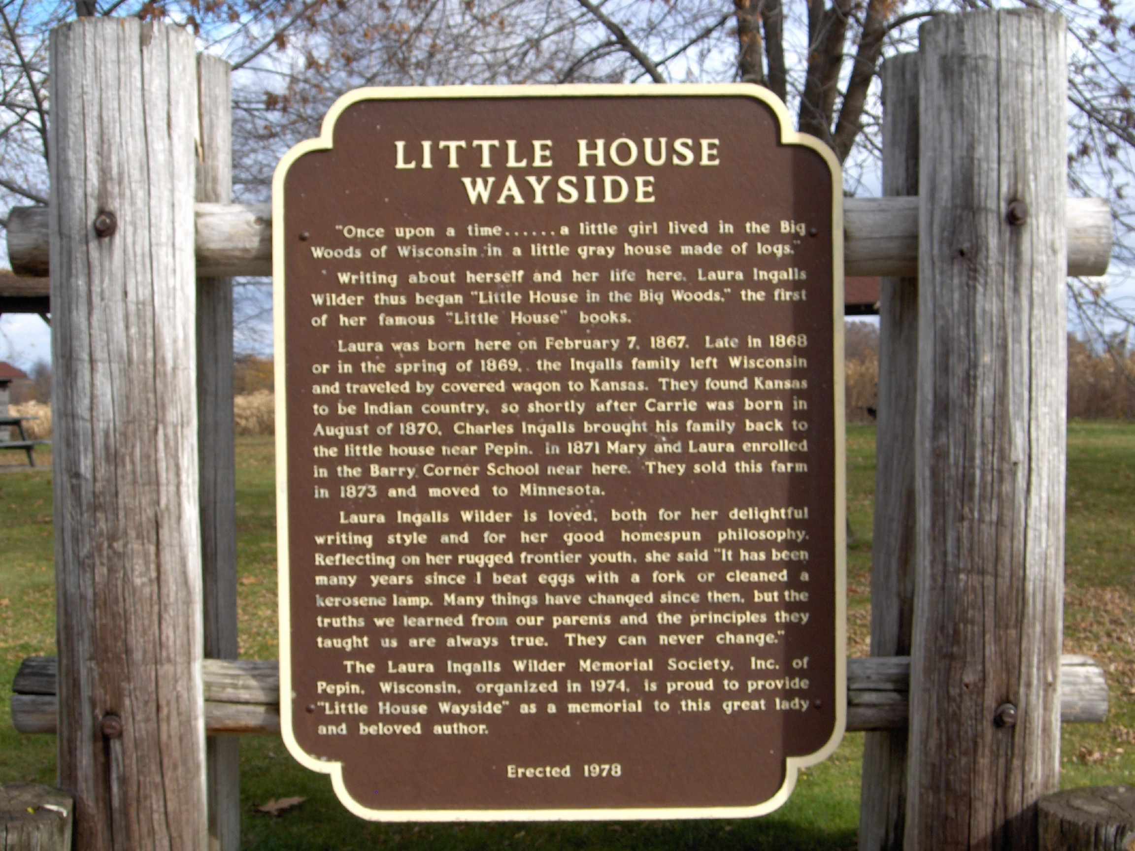 Pepin, Wi  Birthplace Of Laura Ingalls Wilder On Lake Pepin (great  Fishing) You Can Tour Laura's Little House In The Big Woods And The Liw  Museum