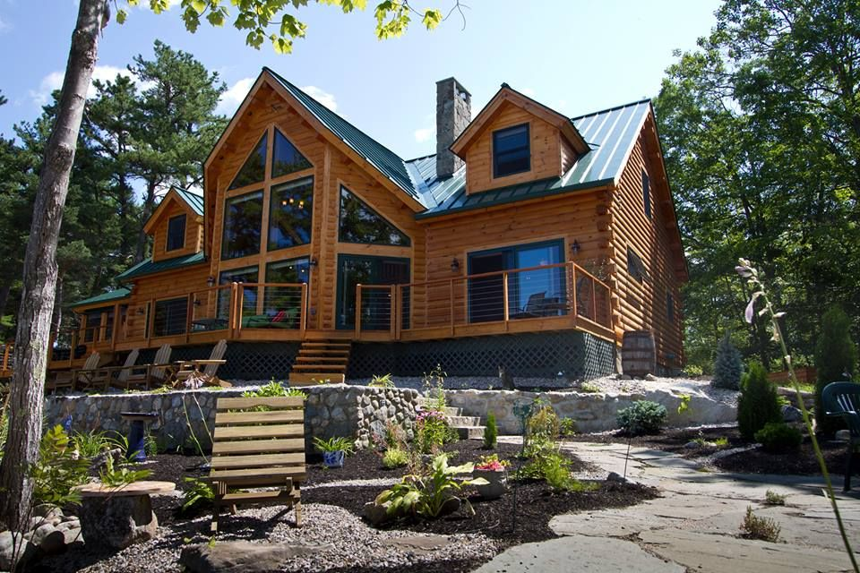Log home cabins inside and out pinterest for Houses inside and out