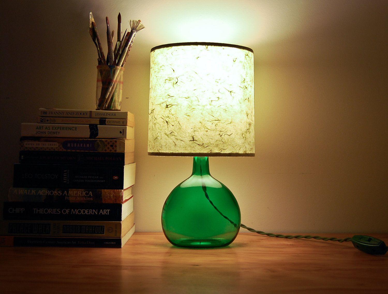 Сделать настольная лампа из бутылки своими руками
