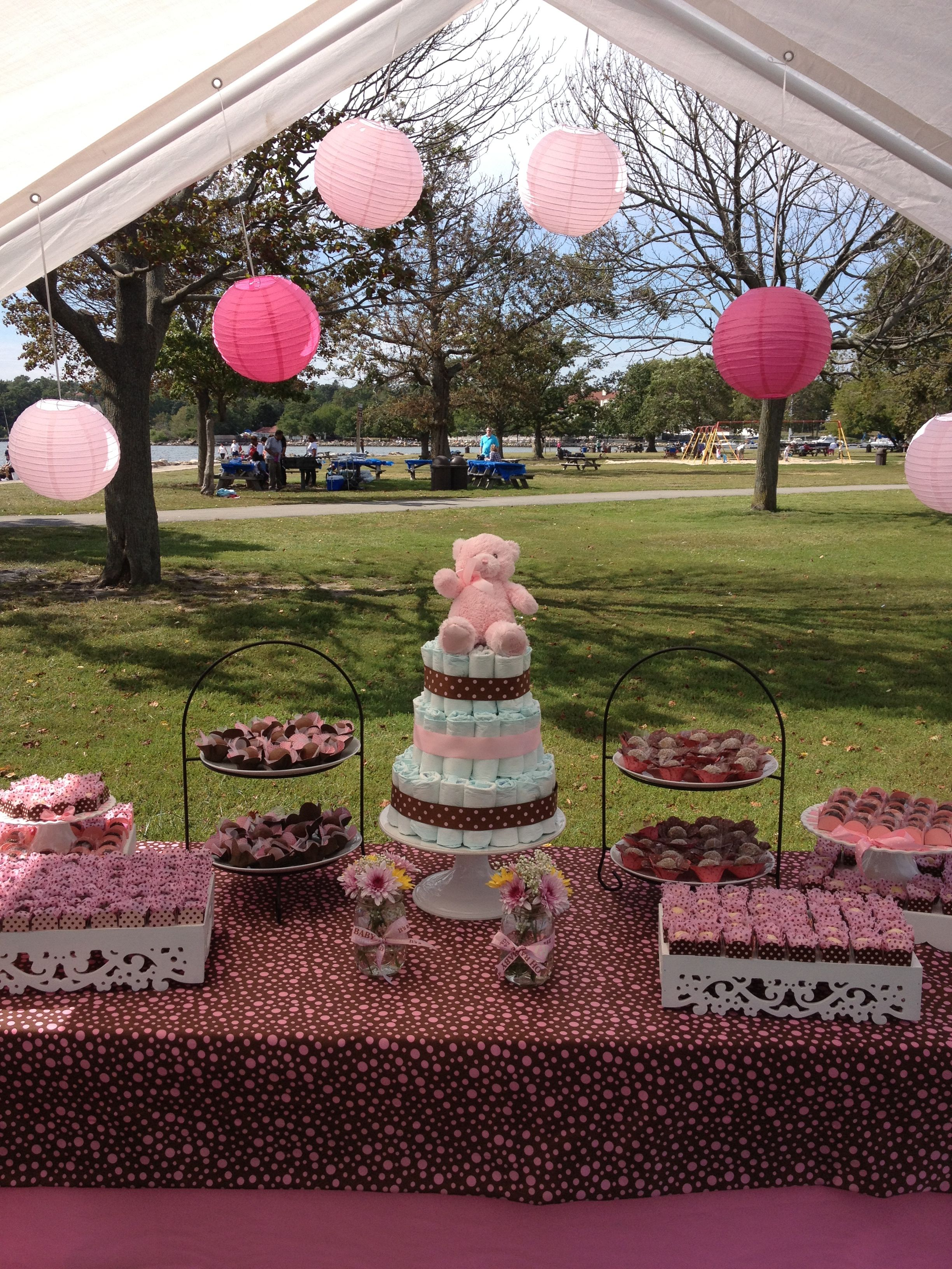 pink and brown baby shower baby shower ideas pinterest