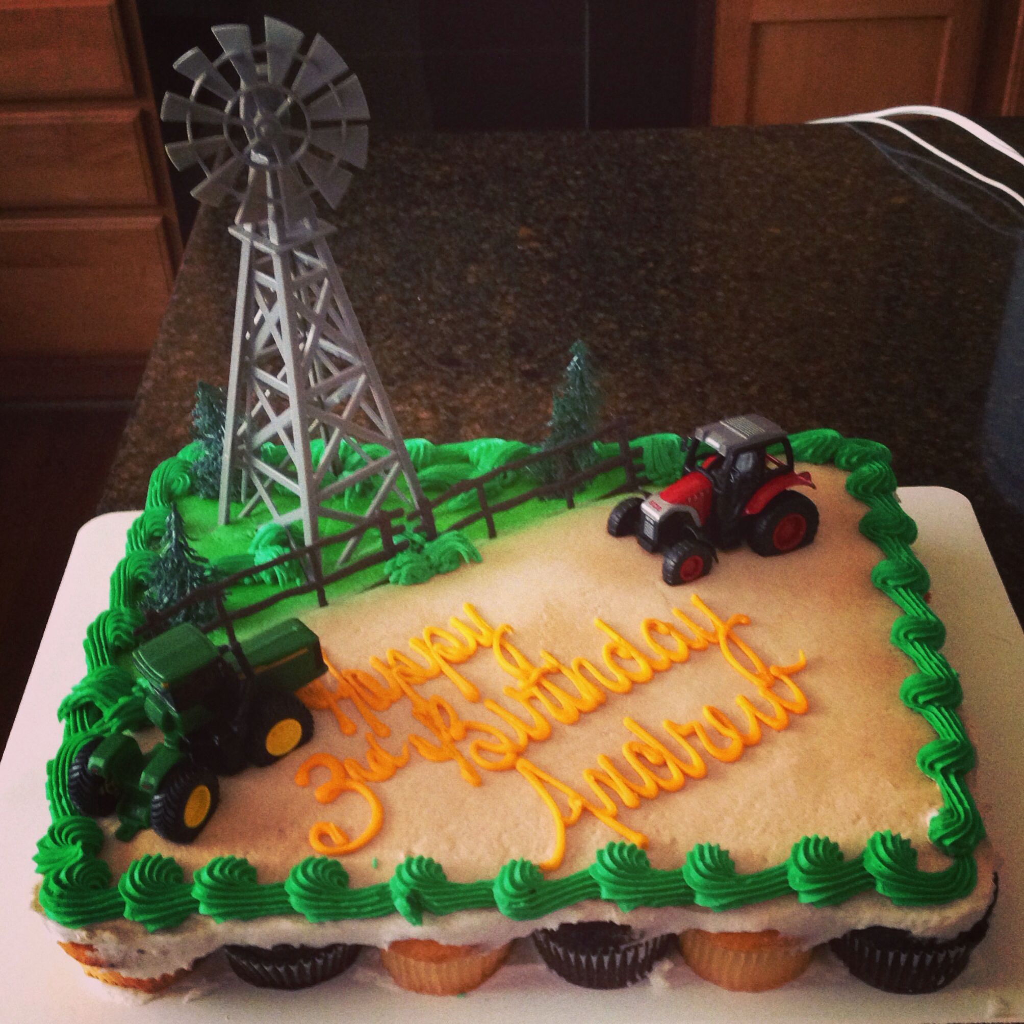 Tractor Birthday Cake party ideas Pinterest