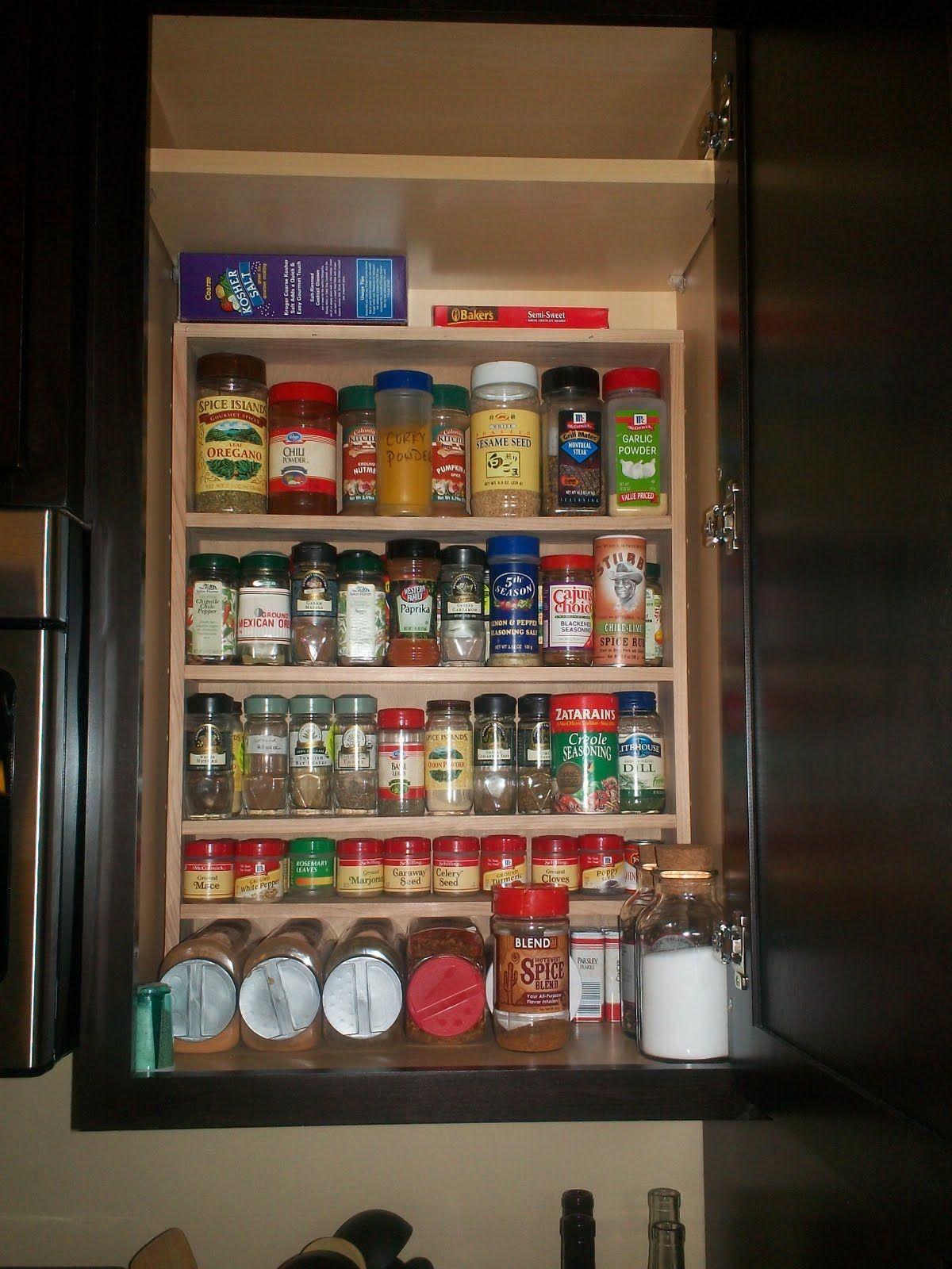 Kitchen Cabinet Spice Storage Spice Storage In Kitchen Cabinet OCD About Organization Pinte