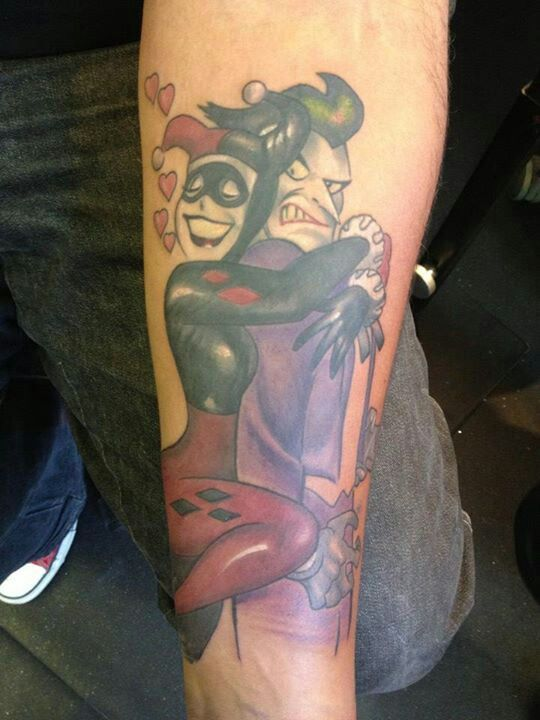 Harley quinn and joker tattoo sweet tattoos pinterest for Harley quinn and joker tattoo