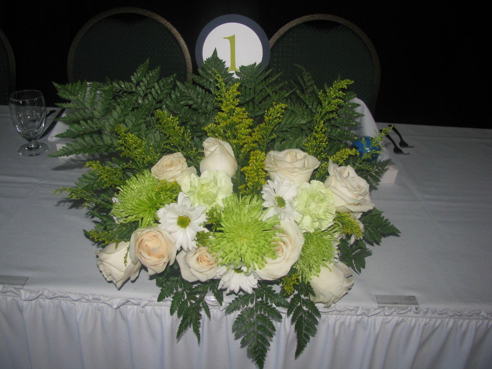 Head Table Arrangement Wedding Flowers Vermont Pinterest