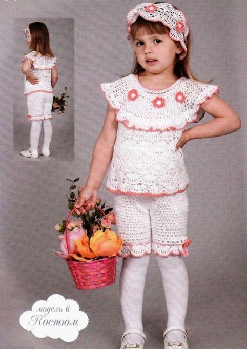 Вязание для девочек костюмы 40