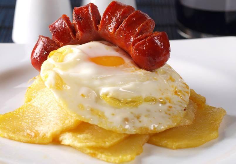 Huevos rotos con chorizo cocina recetas pinterest - Tapas rapidas y baratas ...