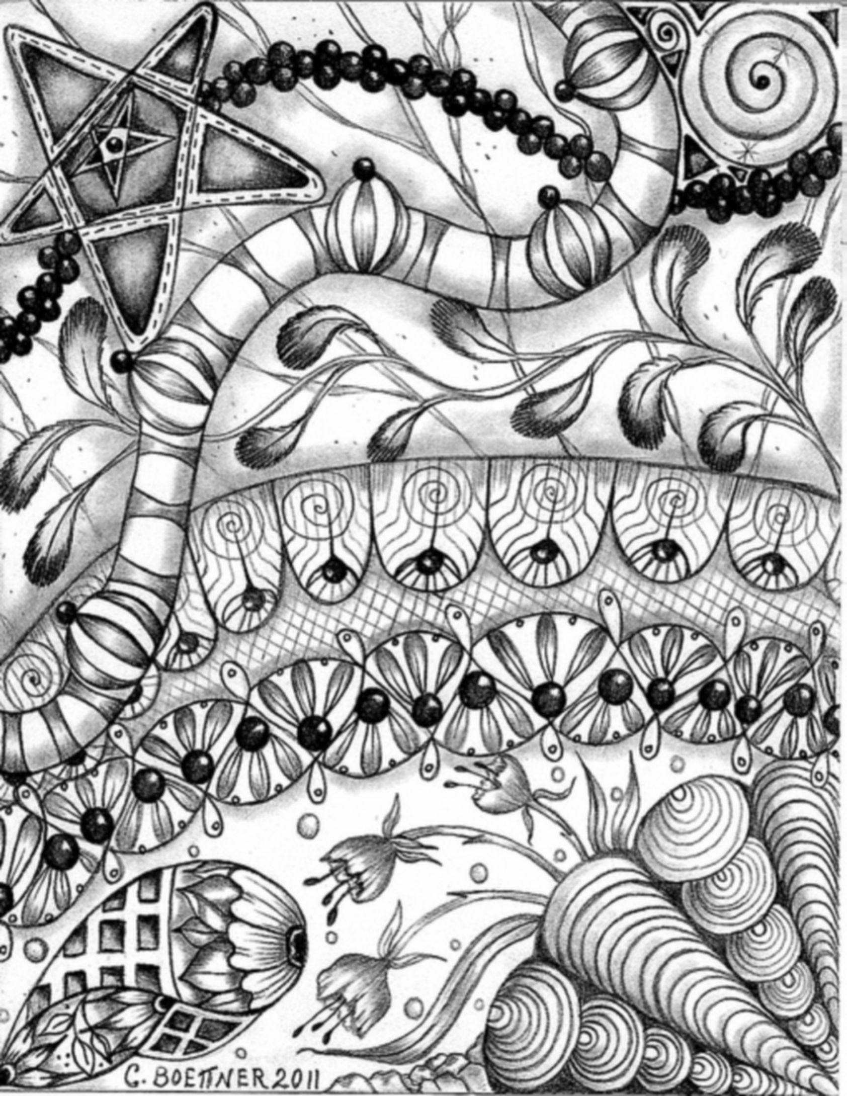Free coloring pages of zendoodle for Zendoodle coloring pages
