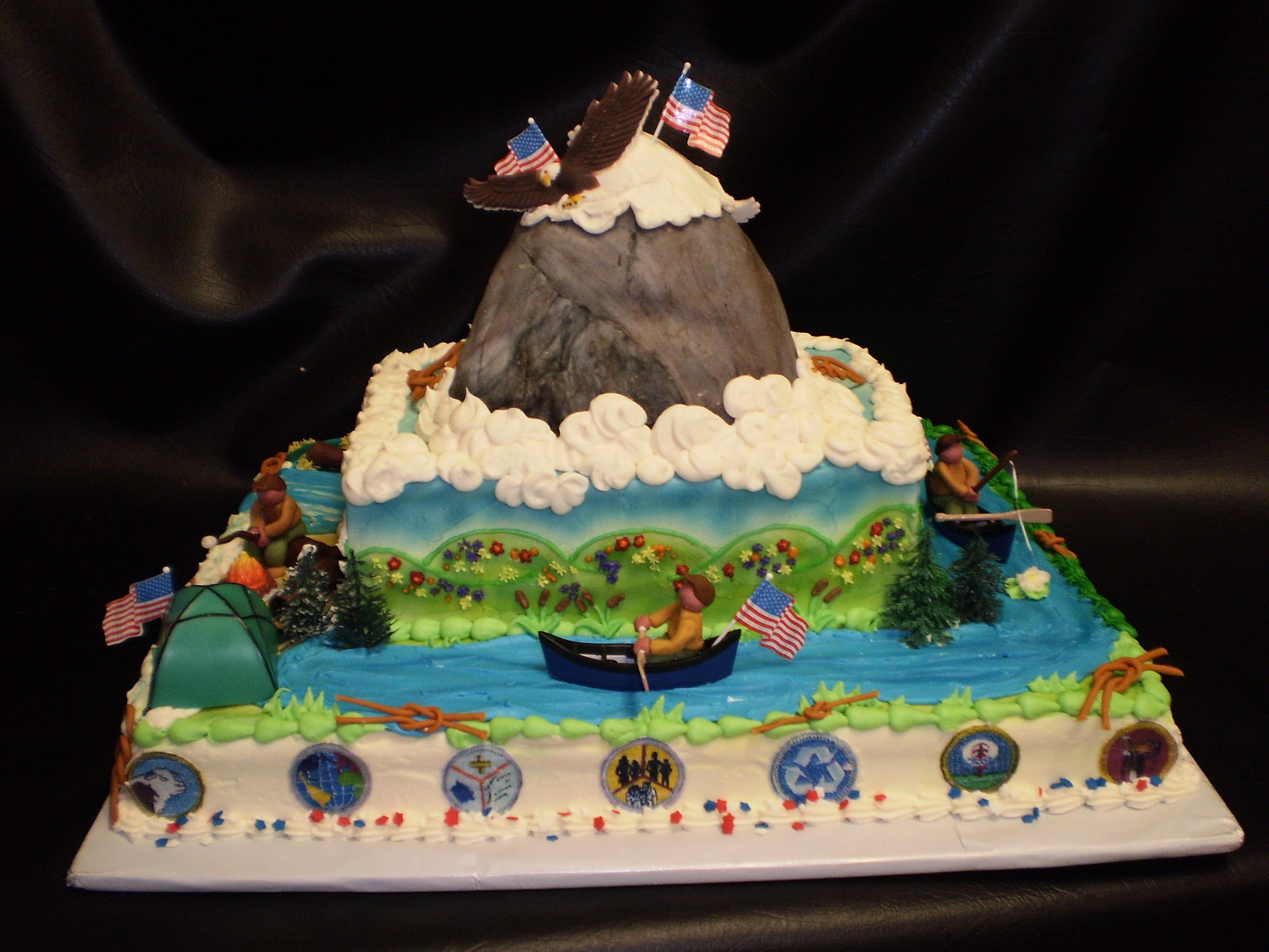Cake Decorating Ideas For Boy Scouts : Yet another cake Eagle scout ideas Pinterest