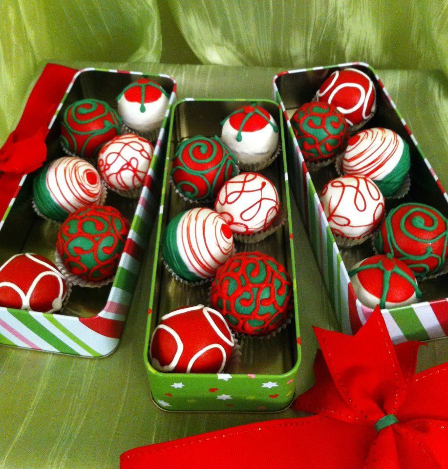 Cake Balls Decorated For Christmas : Christmas Cake Balls Cake Balls ~ Cake Pops ~ Truffles ...