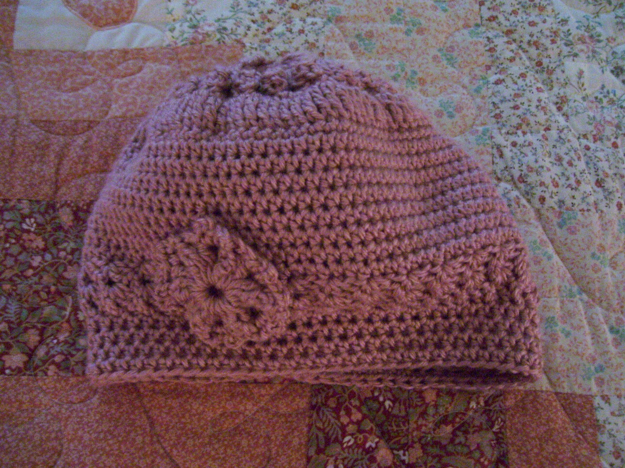 ... completed Chemo cap #2 - front view CROCHET PATTERNS Pintere