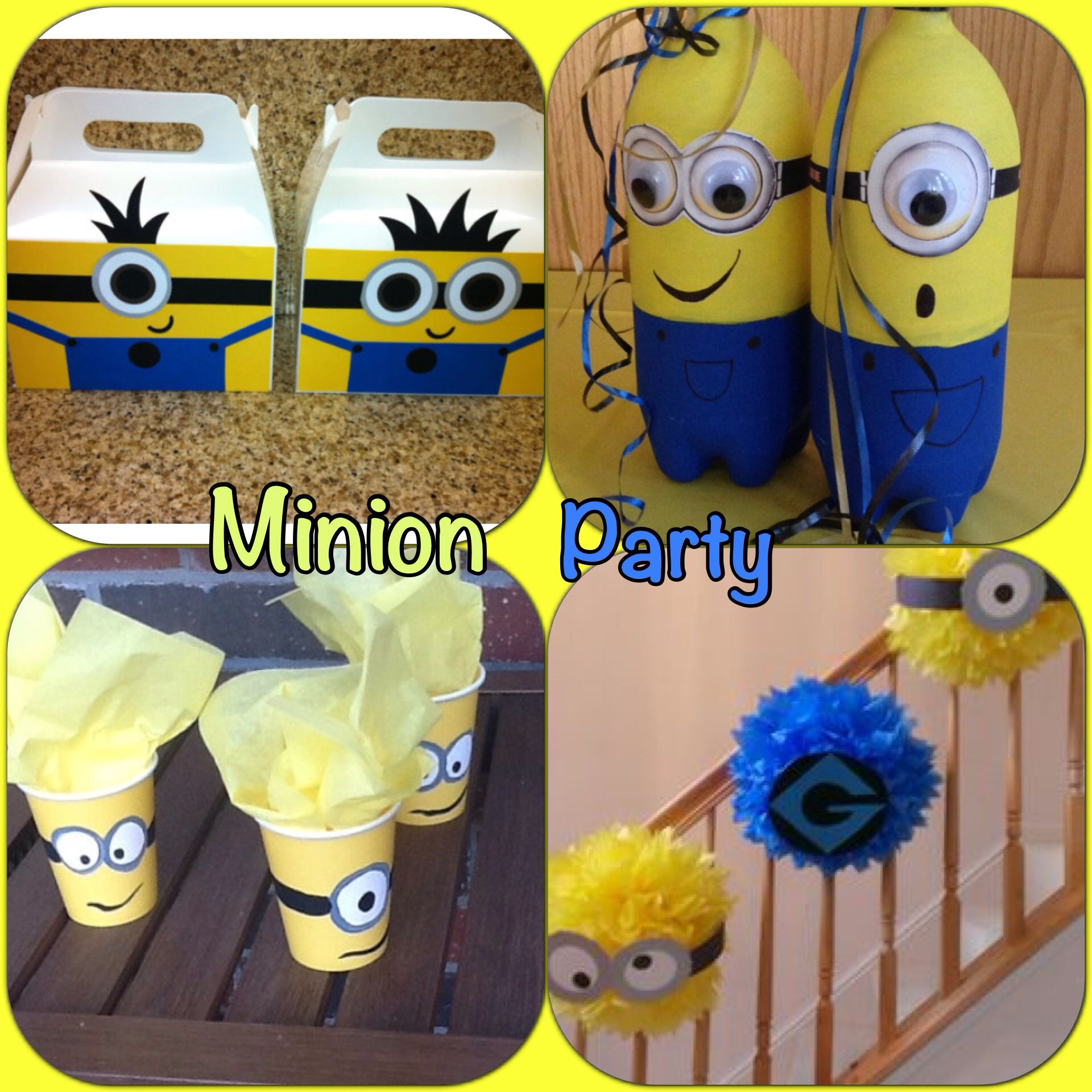 minion themed birthday party holidays pinterest. Black Bedroom Furniture Sets. Home Design Ideas