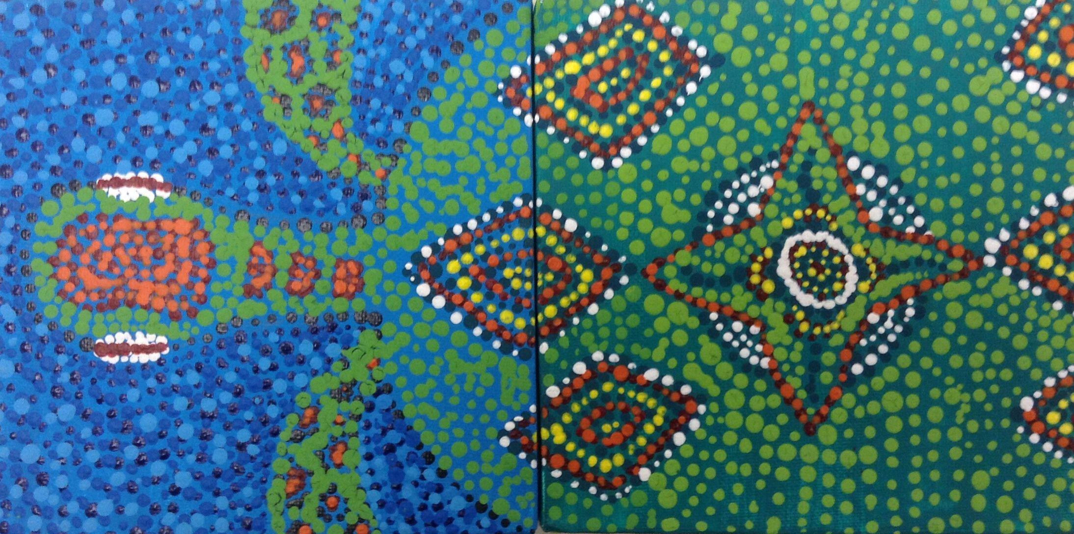 australian aboriginal dot art essay Globalisation and aboriginal art (particularly in dot paintings) australian aboriginal painting since 1960 at cologne's museum ludwig.