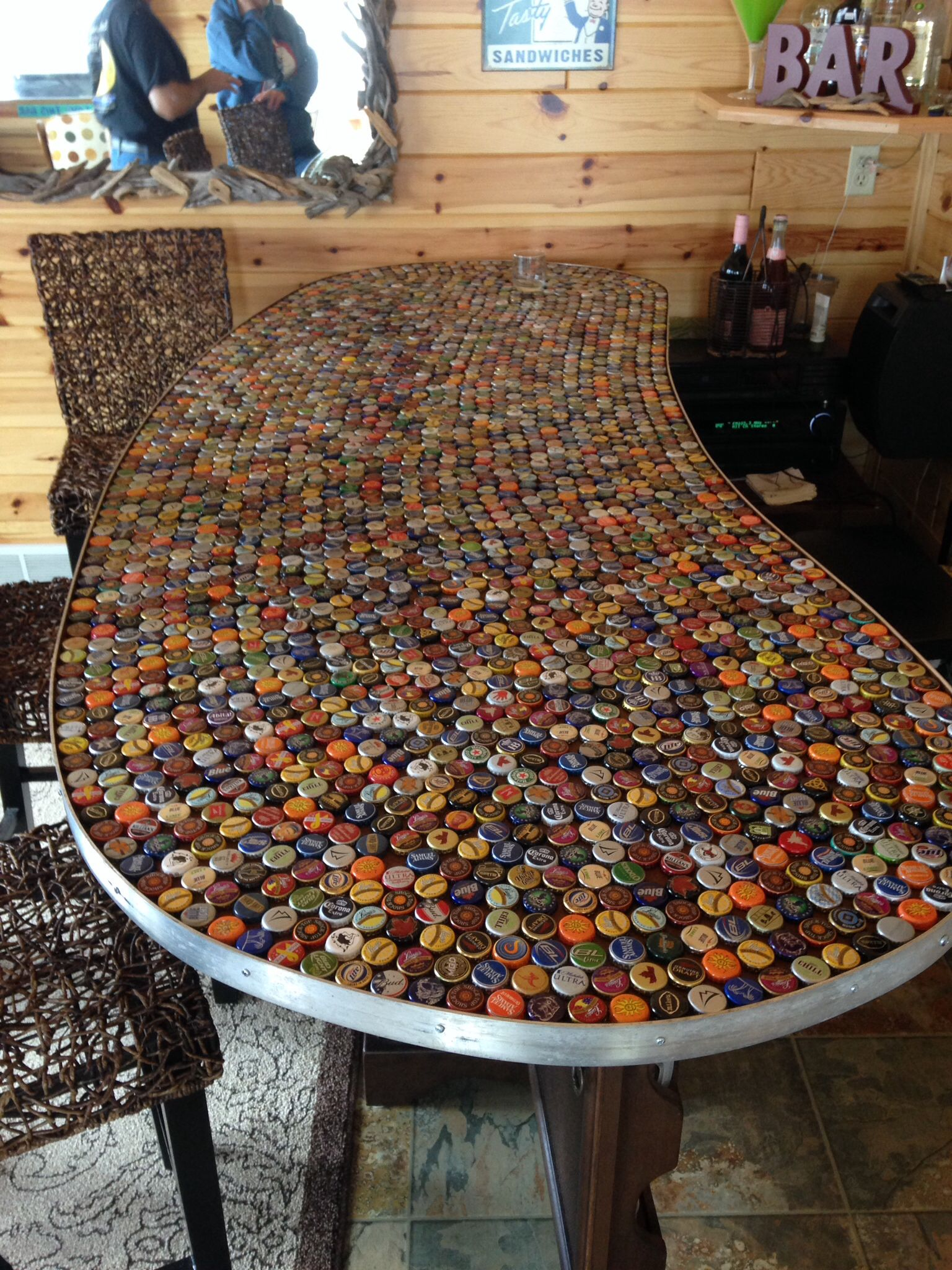 Bottle Top Bar Top Ideas Pinterest