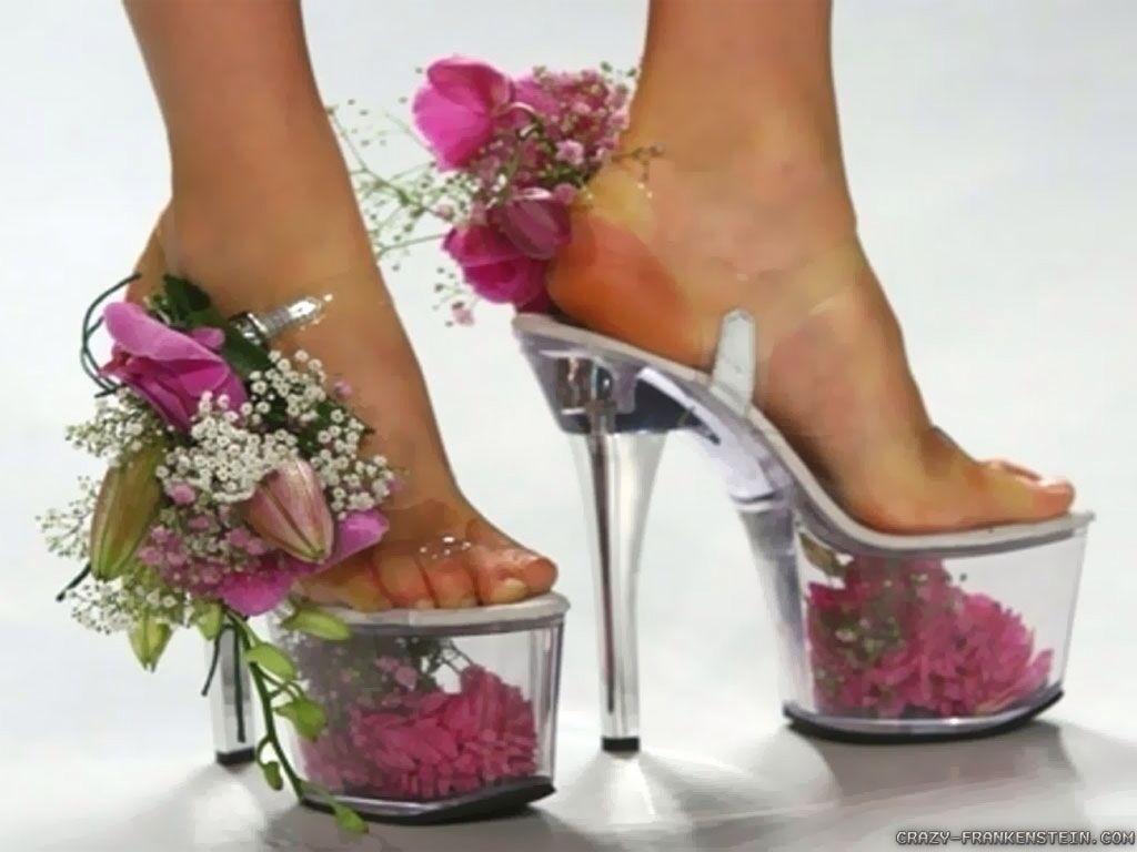 Flowery Unusual Shoes April Showers Pinterest