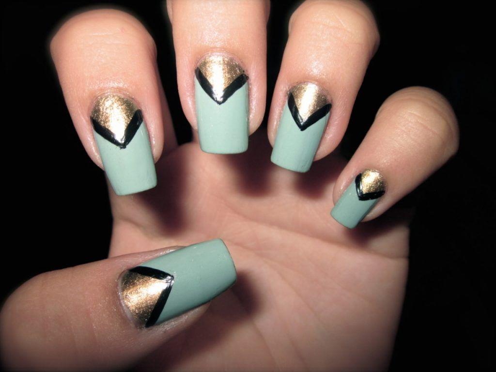 Tumblr acrylic nail art