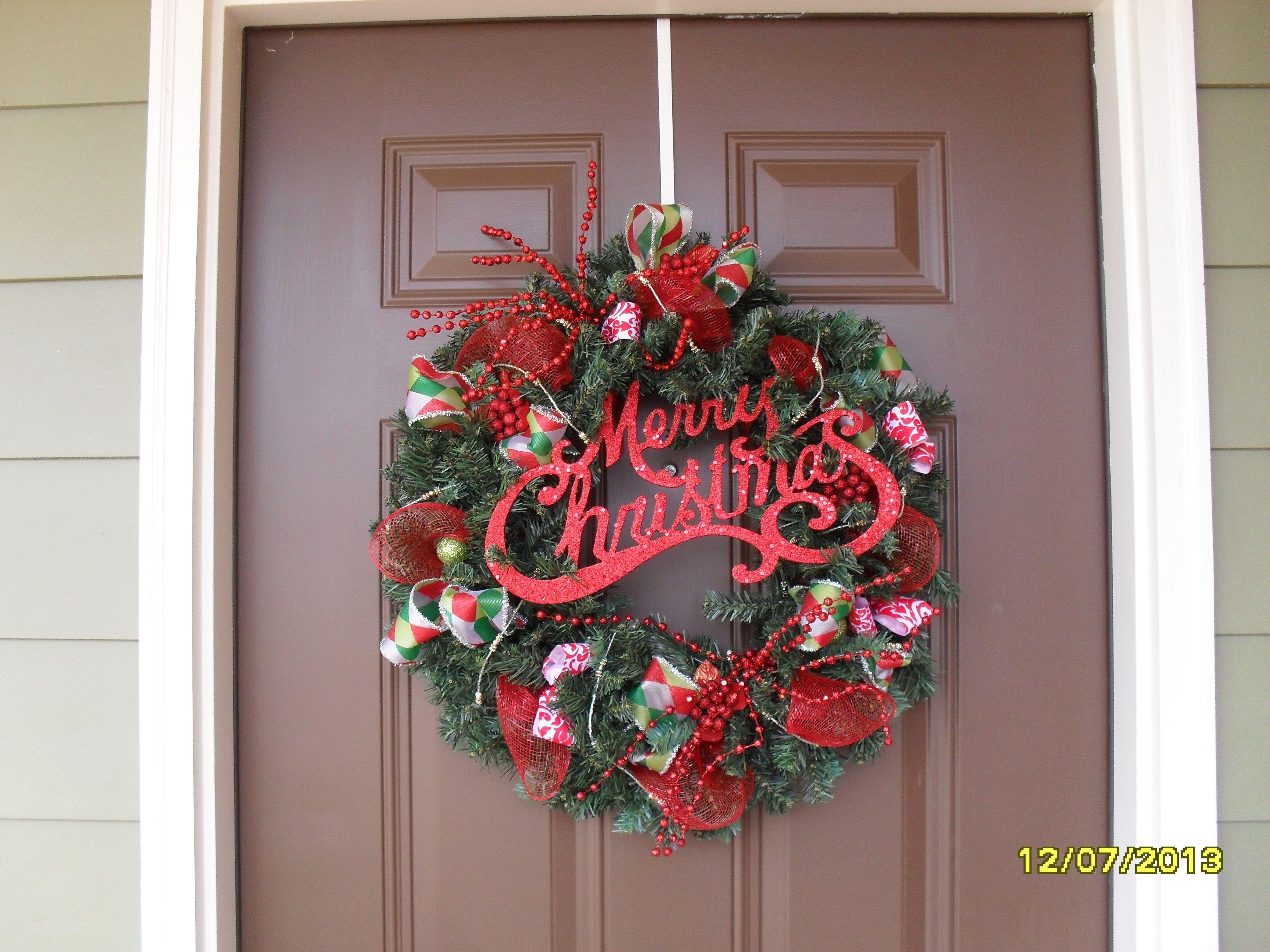 christmas wreath my creations pinterest