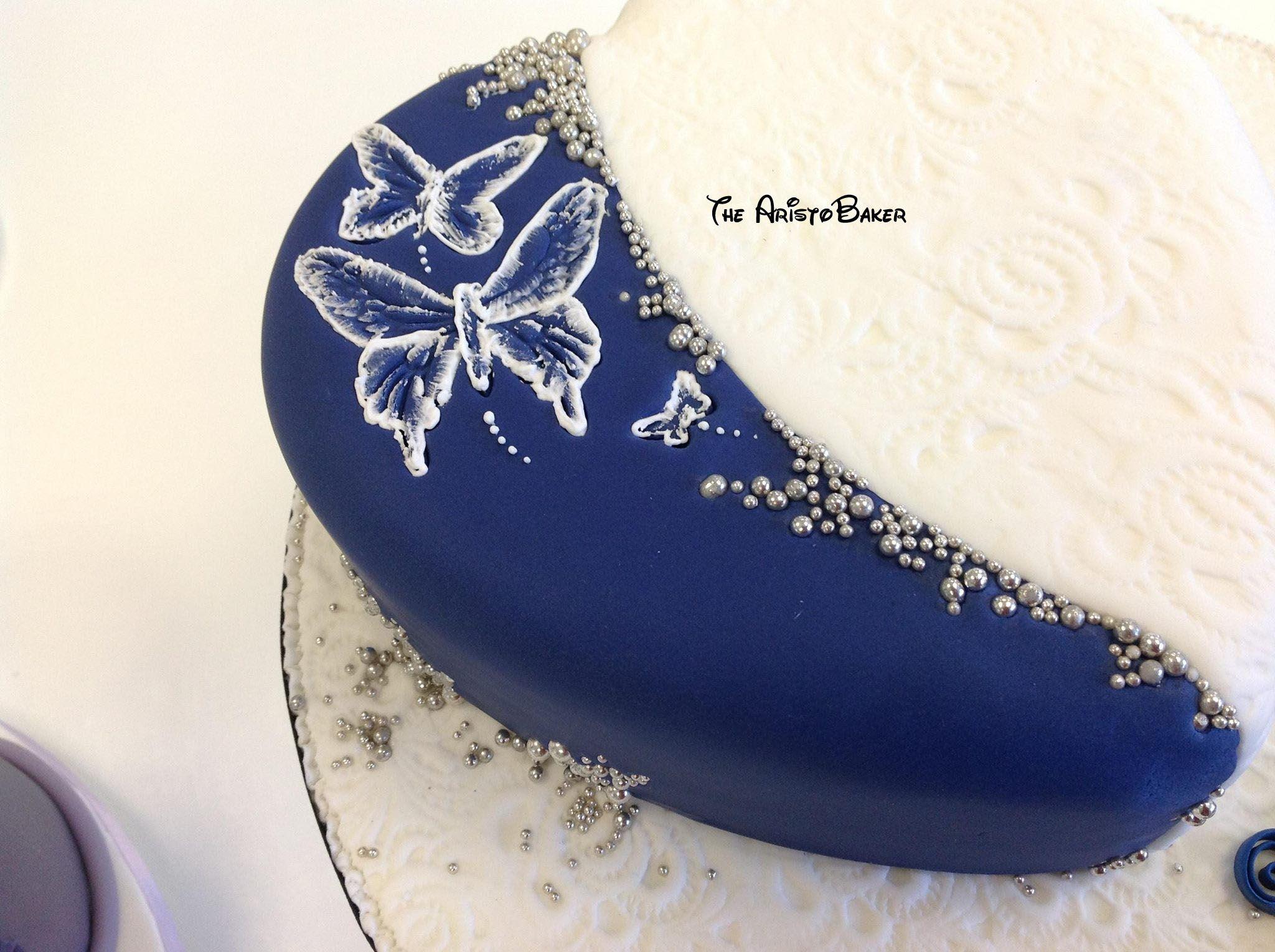 Brush Embroidery Cake  Wedding  Pinterest