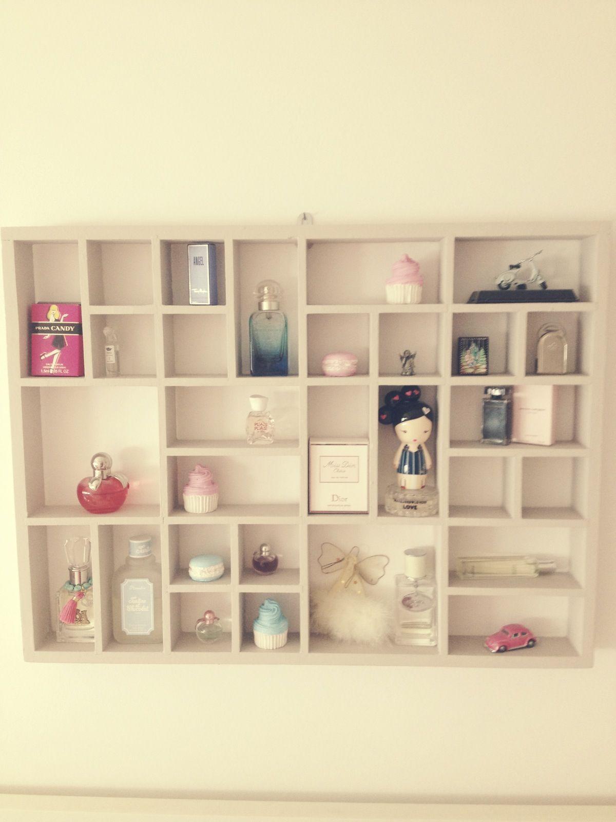 perfume shelf decor i love pinterest. Black Bedroom Furniture Sets. Home Design Ideas