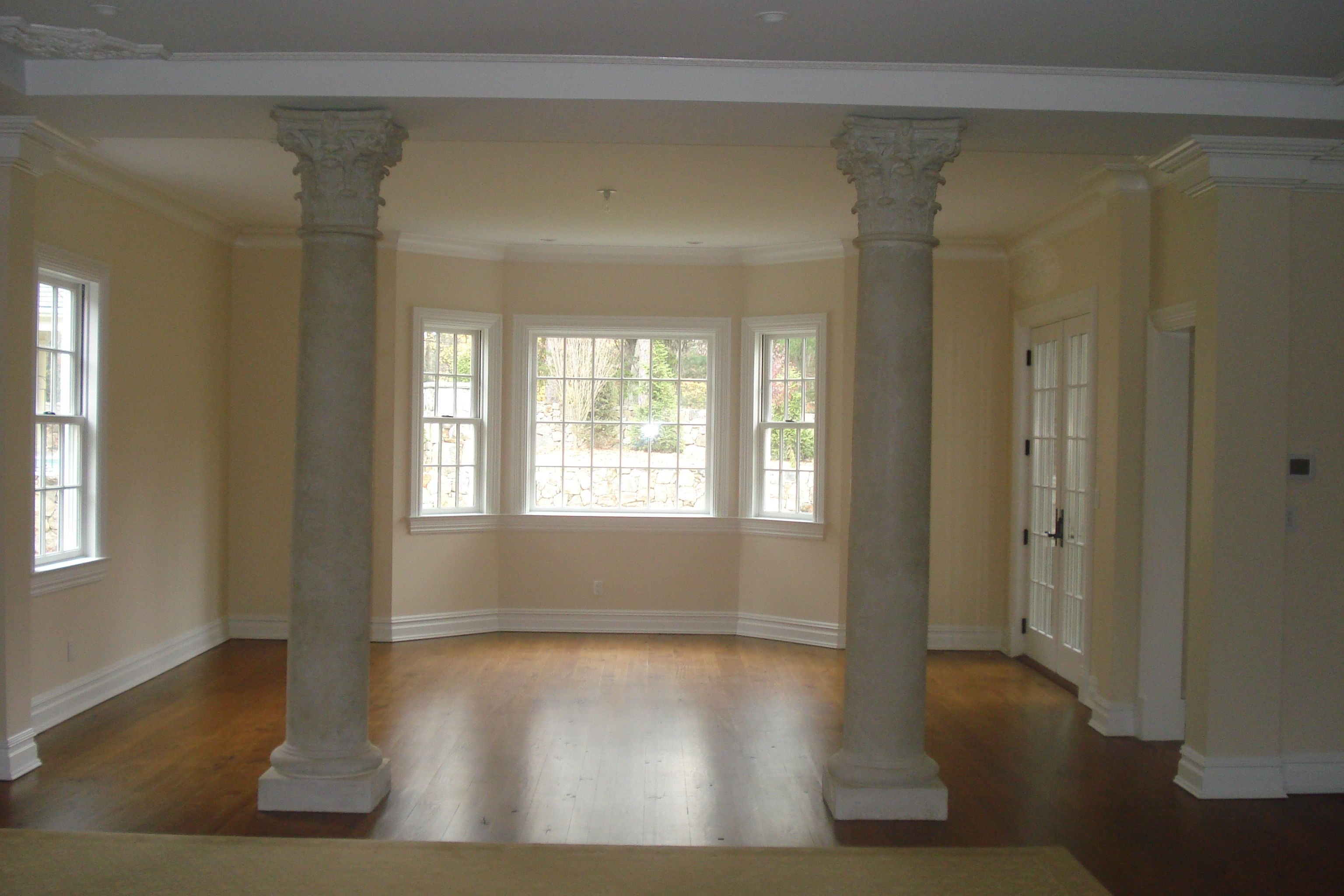 indoor columns as a room divider for the home pinterest