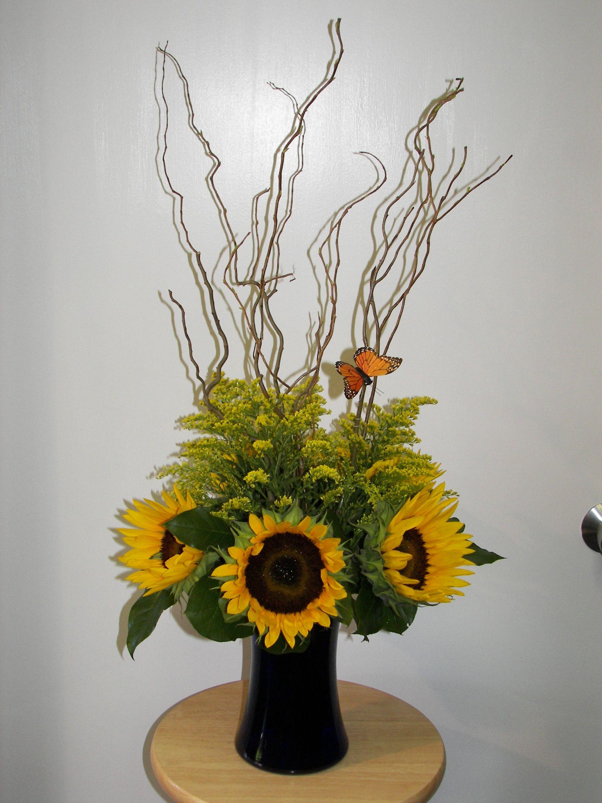 Sunflower arrangement d i y c r a f t s pinterest