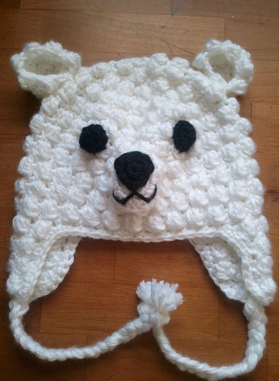 Crochet Animal Hats : Polar bear hat knitting and crochet Pinterest