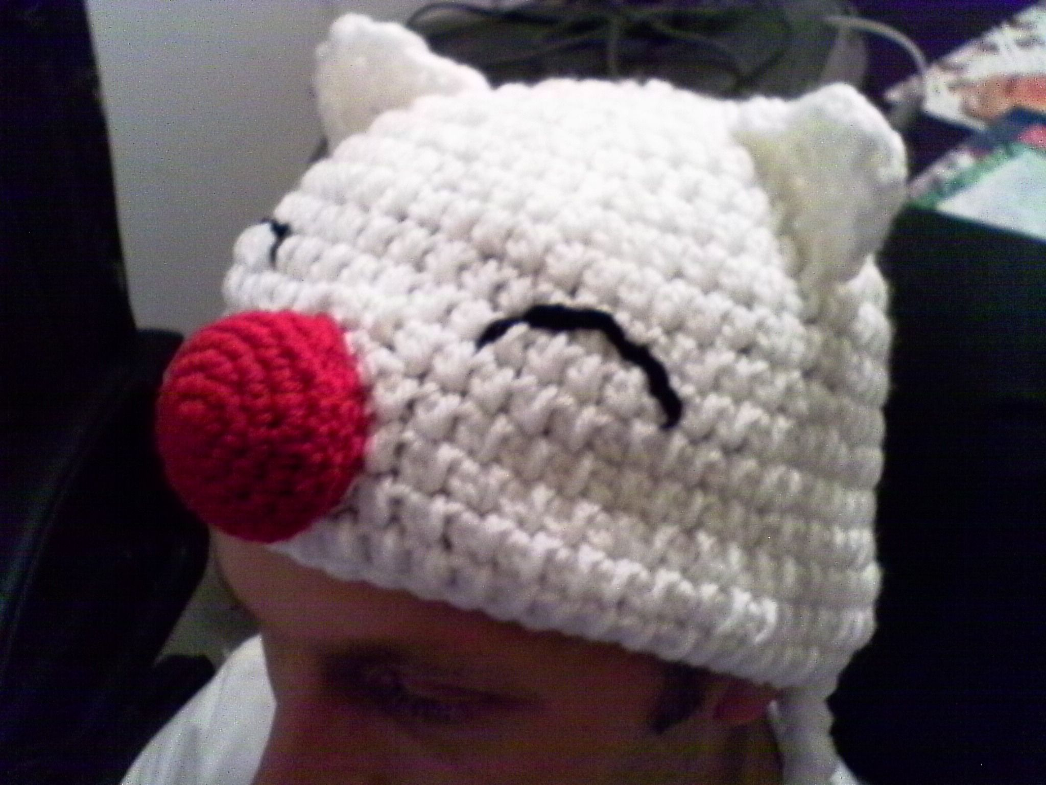 Crochet Fantasy : Crochet Moogle Hat - Final Fantasy Crochet - hats Pinterest