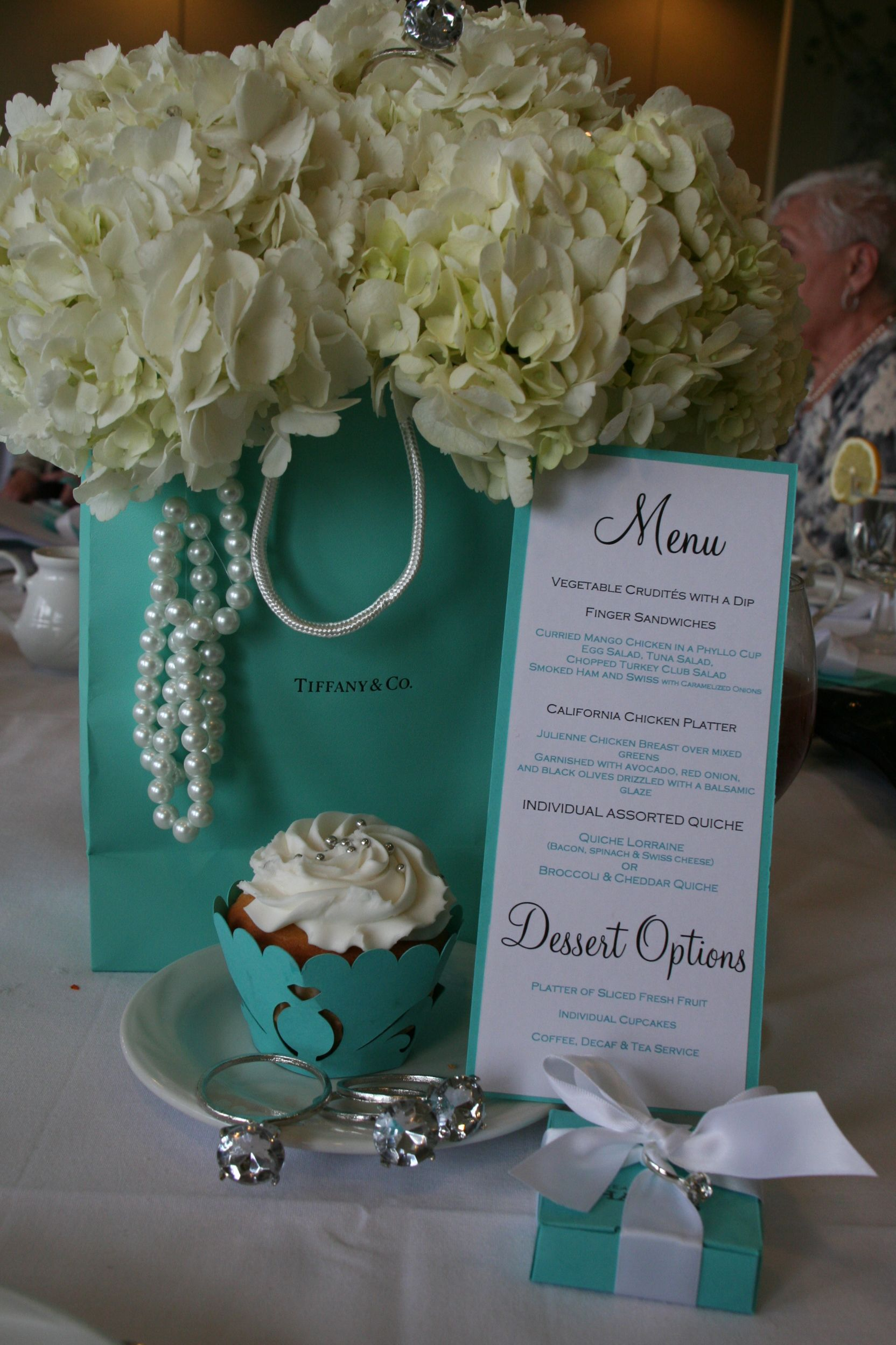Bridal Shower Centerpieces Ideas Tables : Ideas about tiffany blue centerpieces on