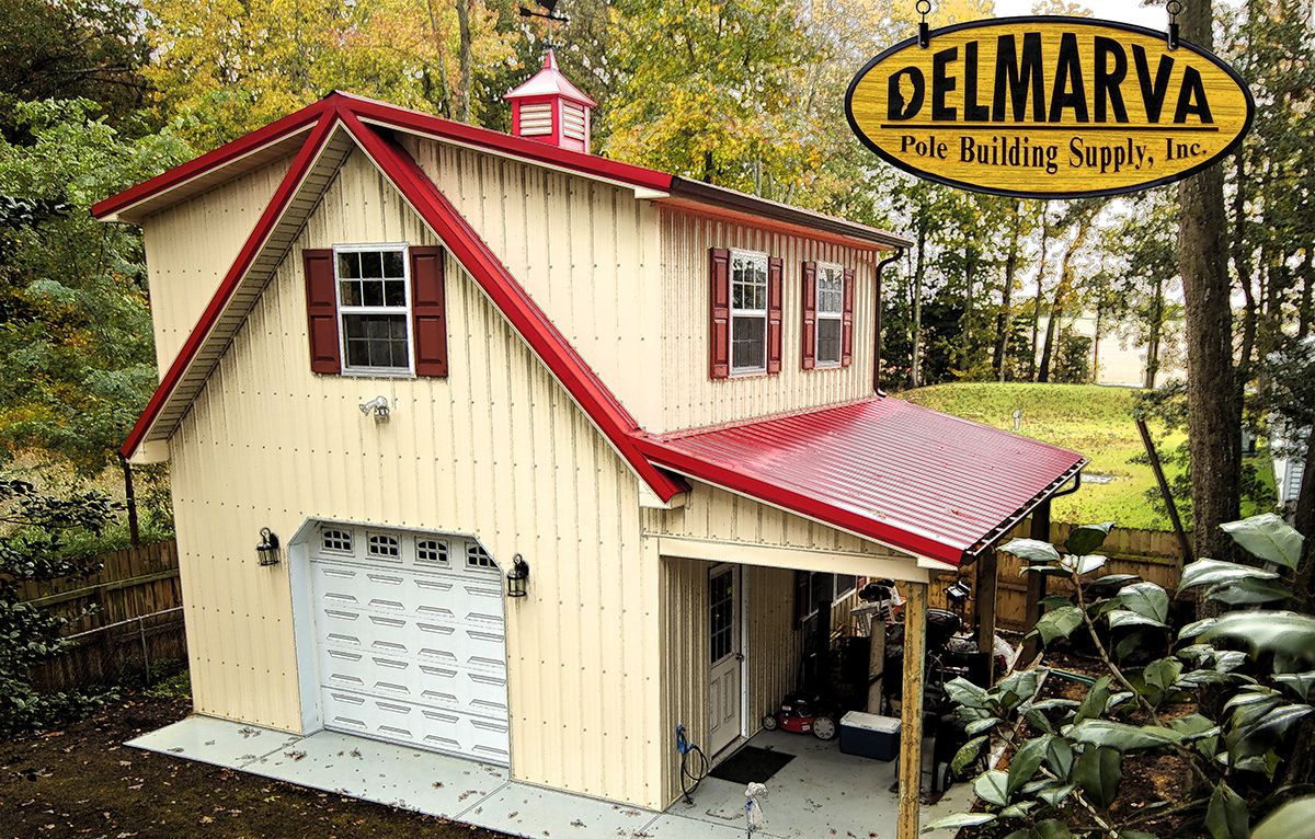 Pin by delmarva pole building supply inc on residential for Pole barn garage with loft