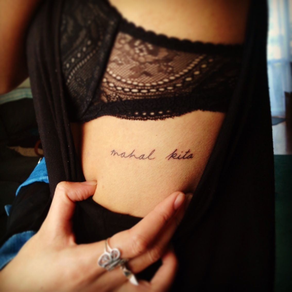 Tattoo Quotes Placement Ideas: Rib Tattoo. Love The Placement