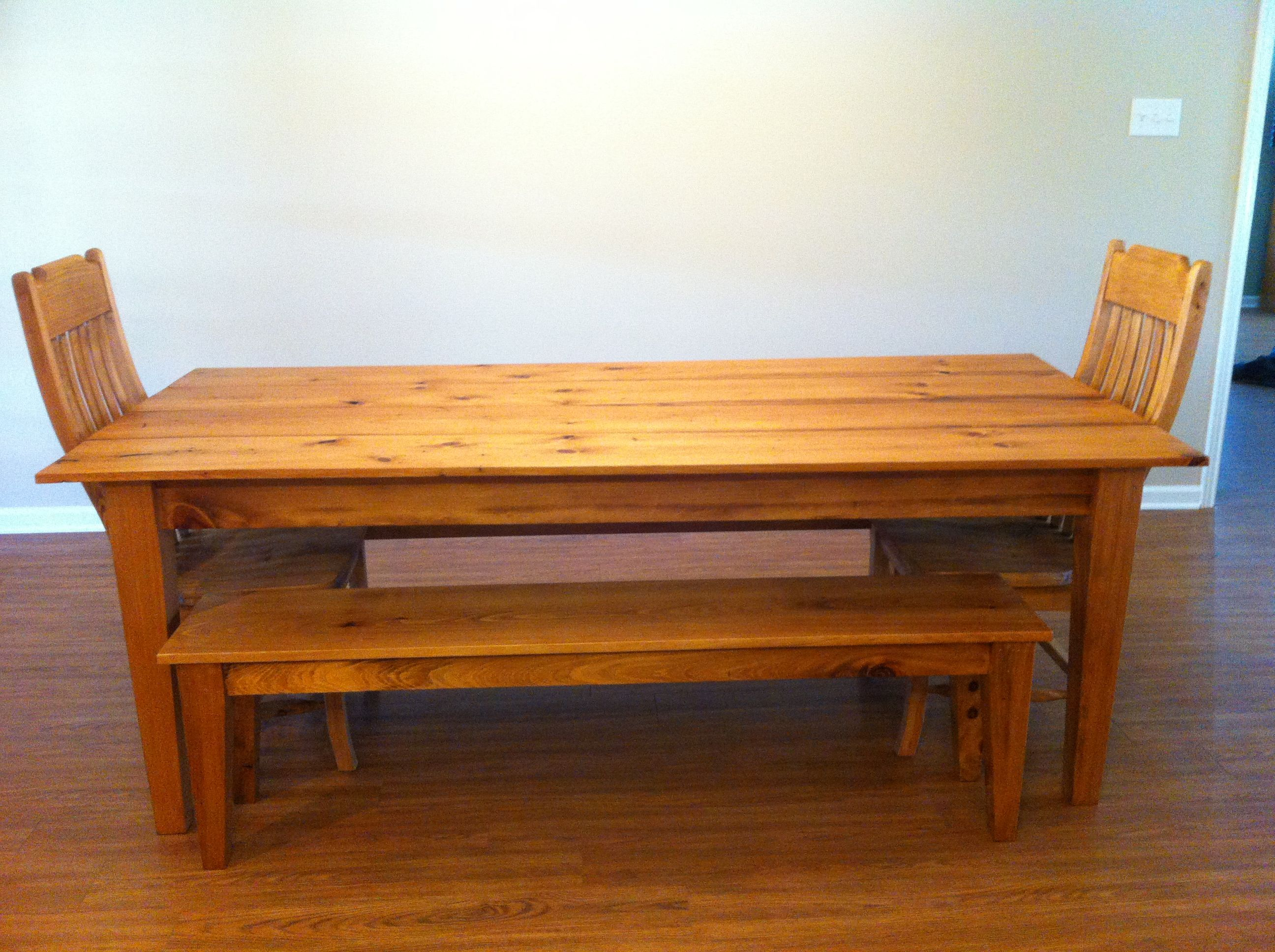 Cypress Dining Room Table Custom Homemade Cypress