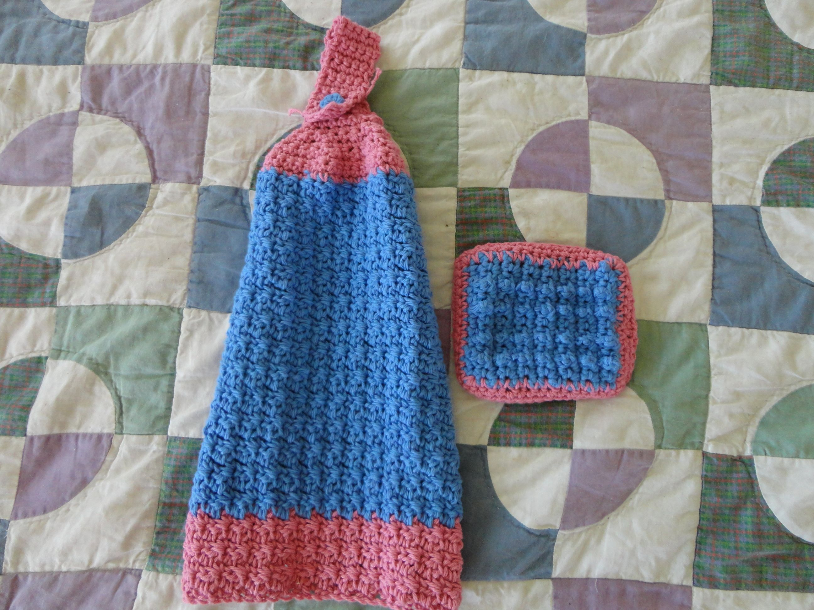 Crocheting Dish Towels : Crochet Kitchen towel and sponge crochet Pinterest