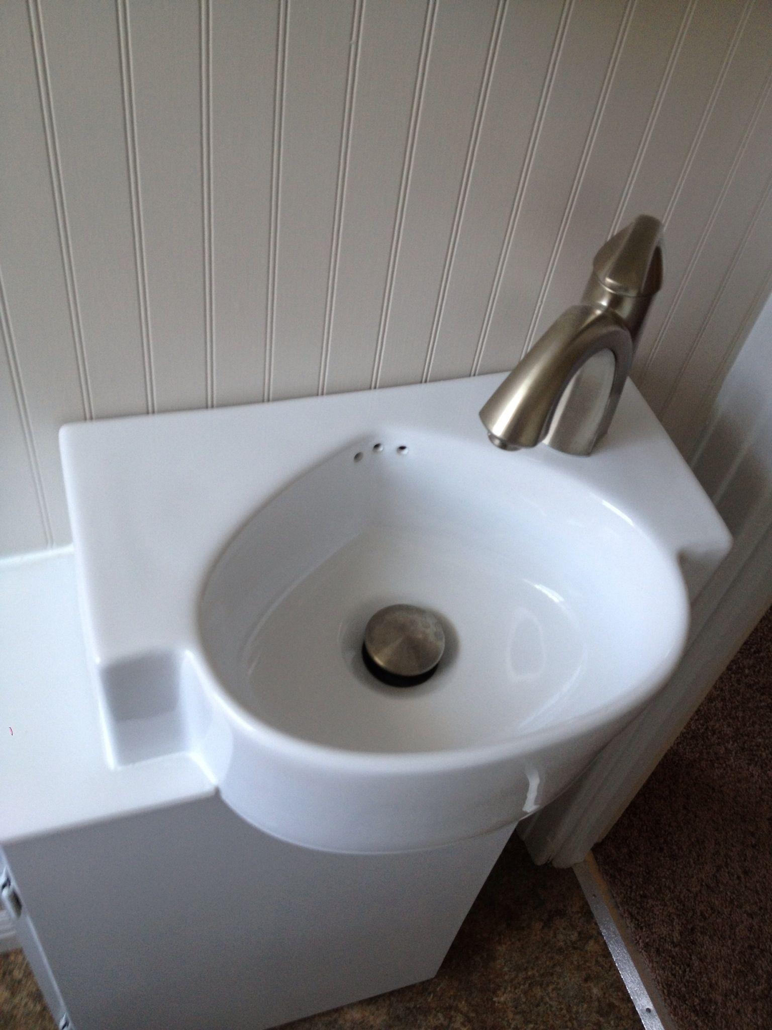 Tiny bathroom sinks