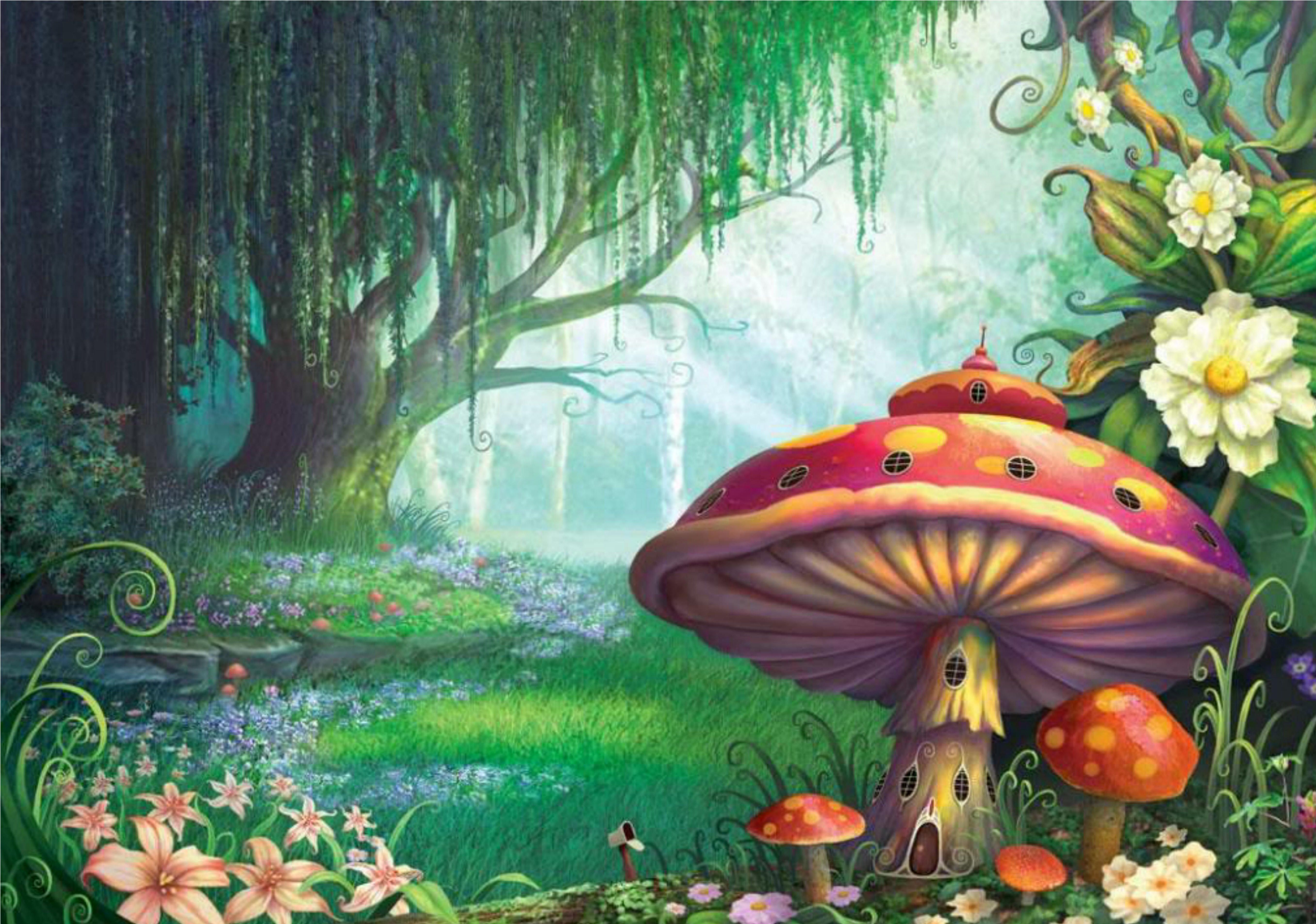 Enchanted forest mural inspiration a whimsical for Enchanted forest wall mural