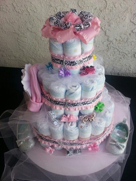 diaper cake paris theme baby shower pinterest