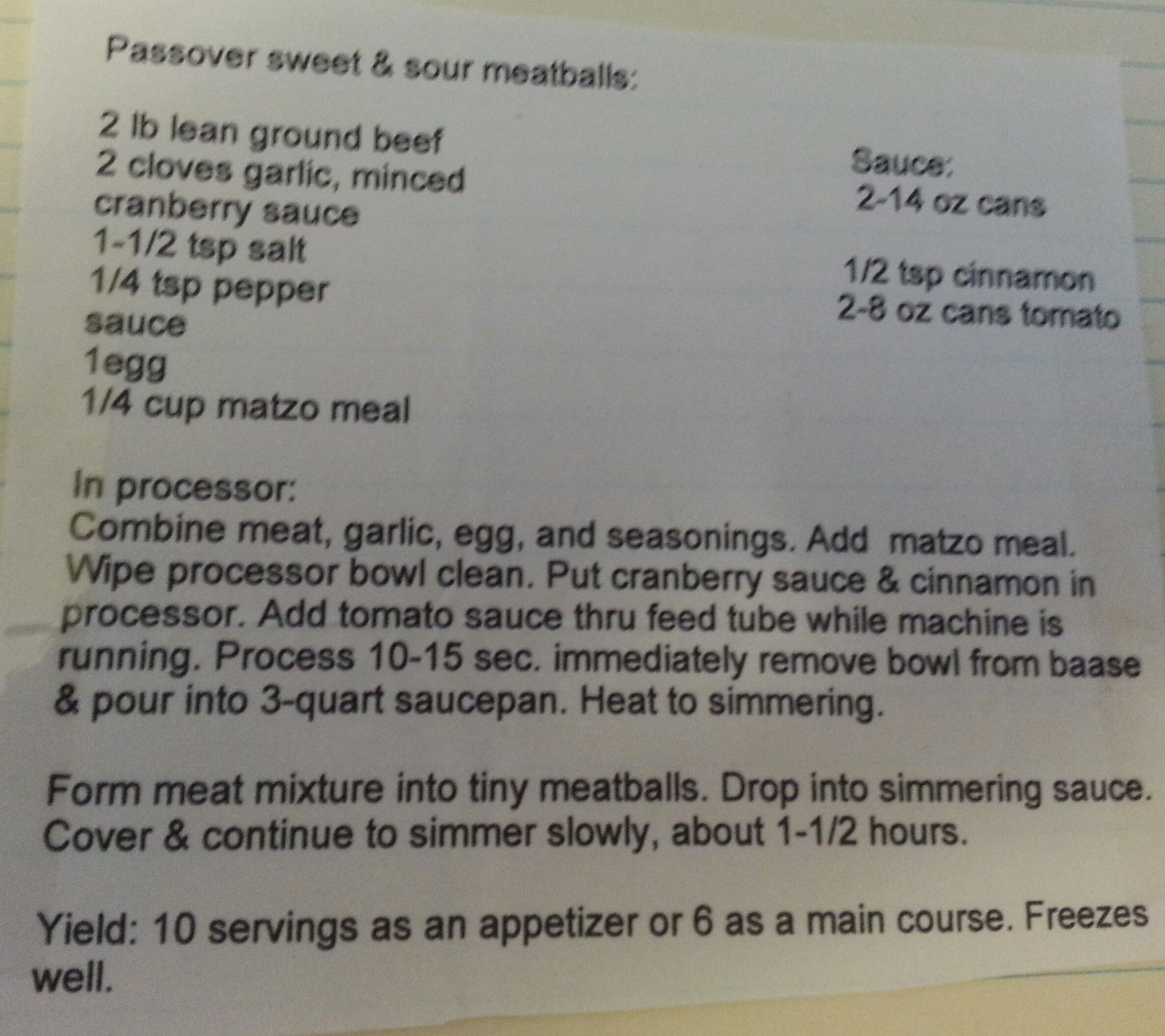 Sweet and Sour Meatballs   Recipes - Passover   Pinterest