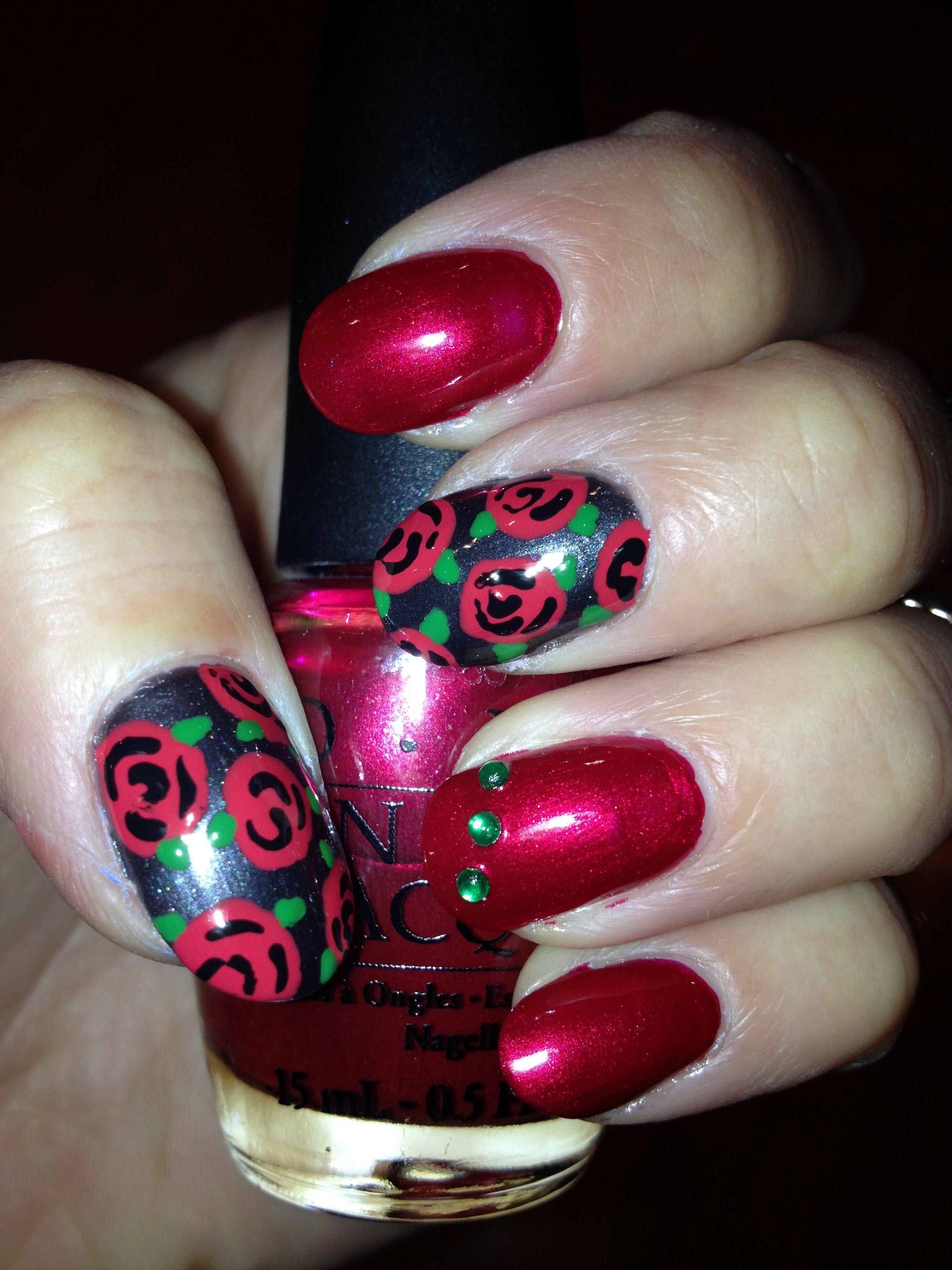 Red Rose Nail Design! | My Nail Designs | Pinterest