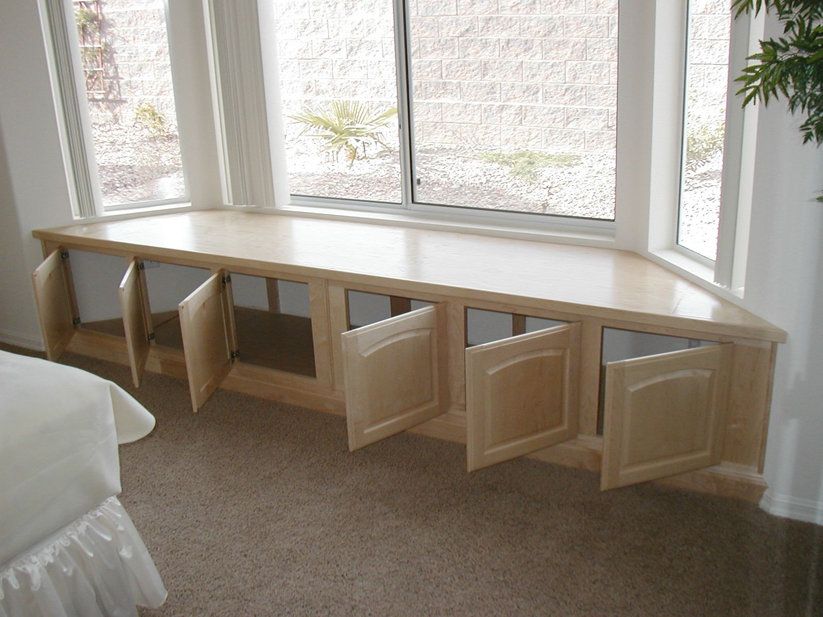 Bay window seat storage for the home pinterest for Window seat bay window
