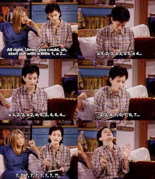 monica friends tv show funny quotes f r i e n d s