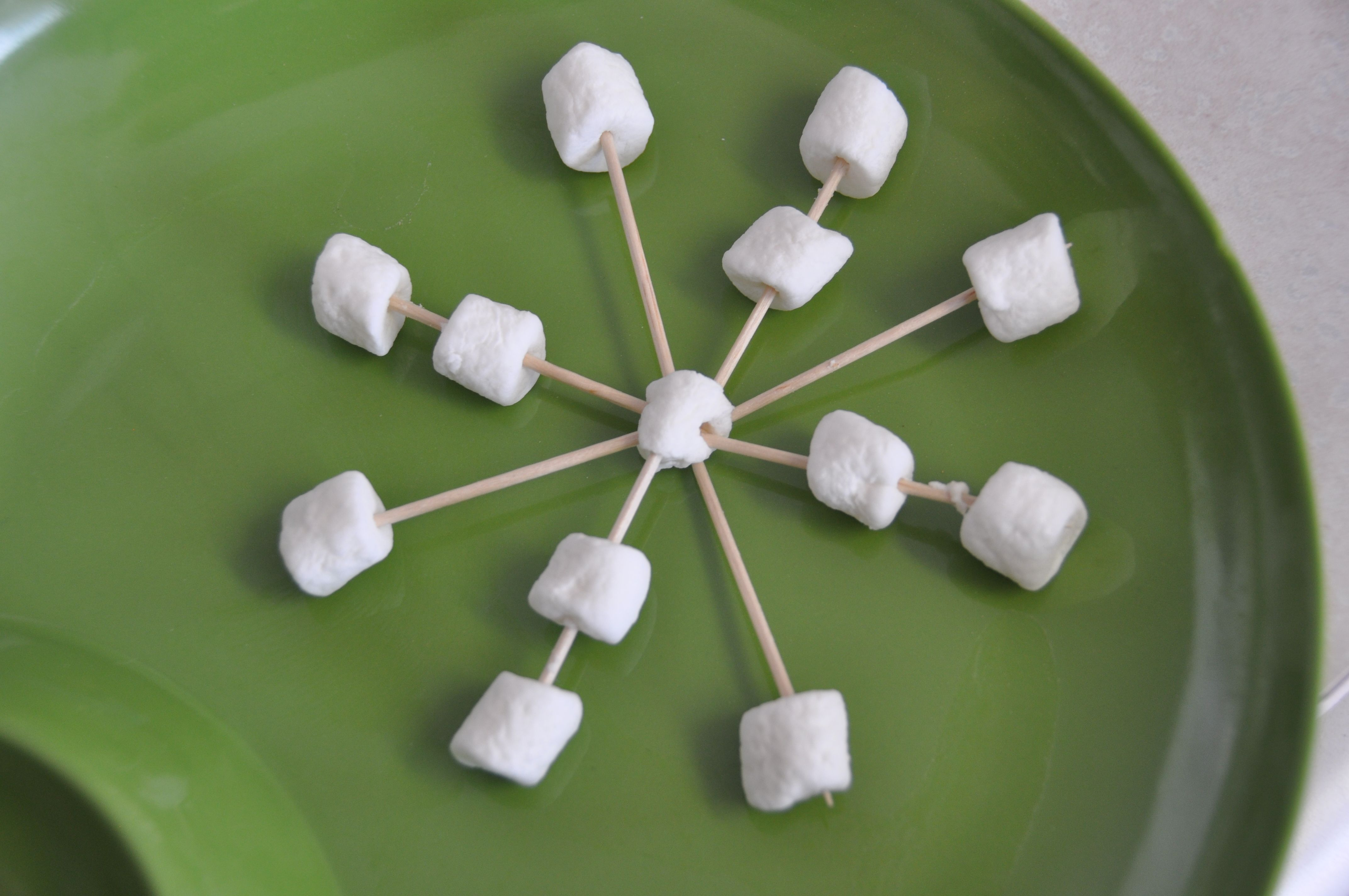 marshmallow snowflake   Kids snack ideas   Pinterest
