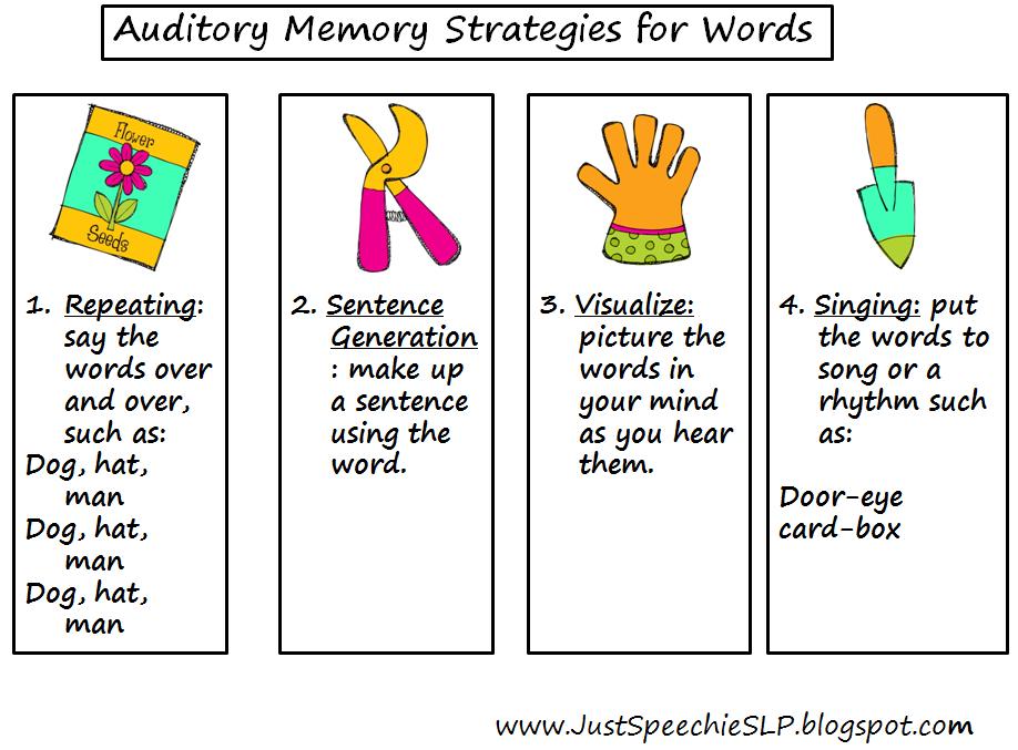 Memory Strategies | SDV 100 | Pinterest