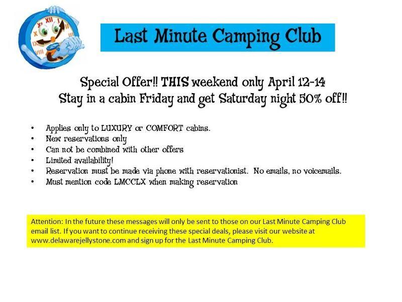 last minute camping memorial day weekend