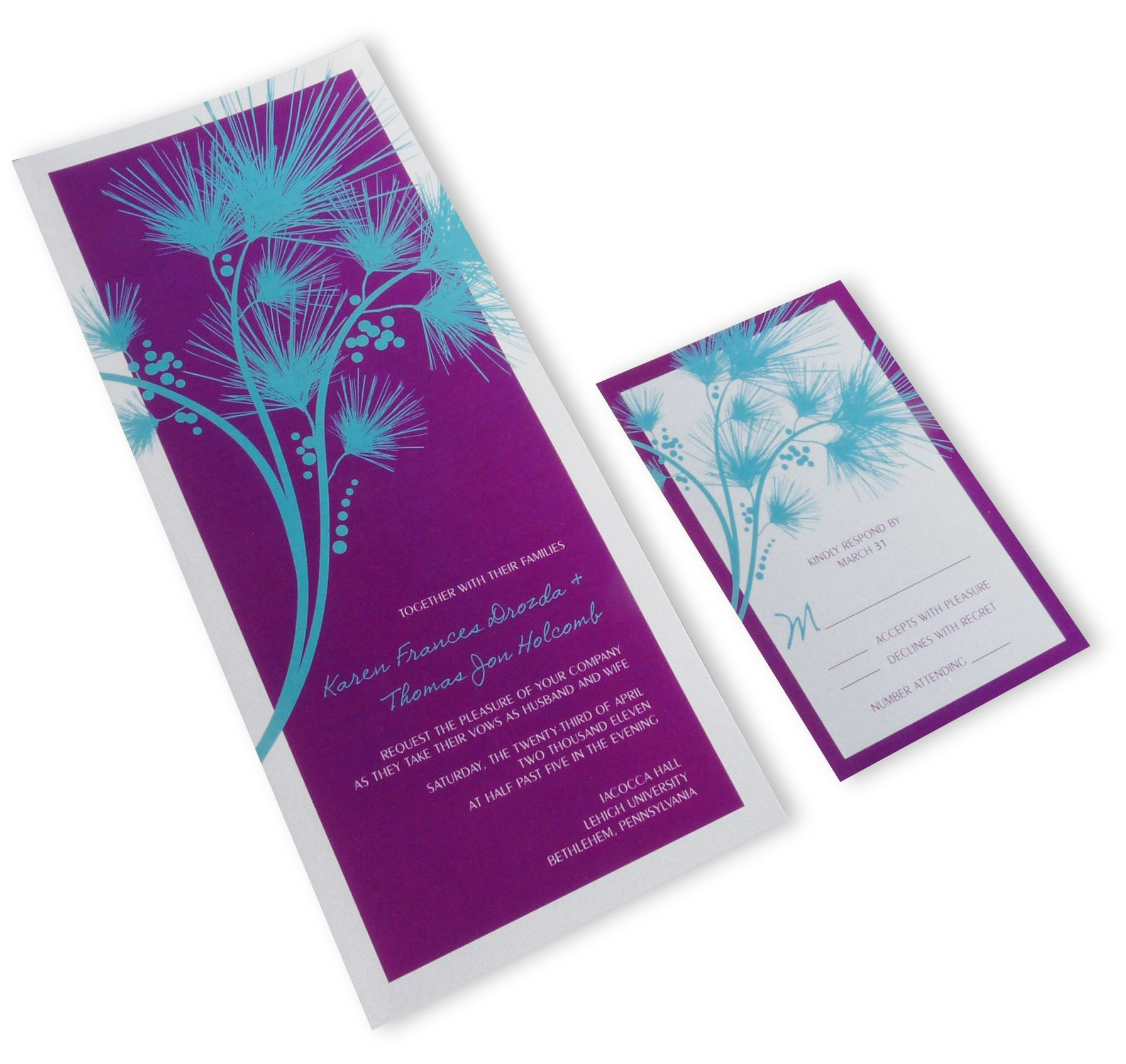 Purple And Teal Wedding Invitations is the best ideas you have to choose for invitation example