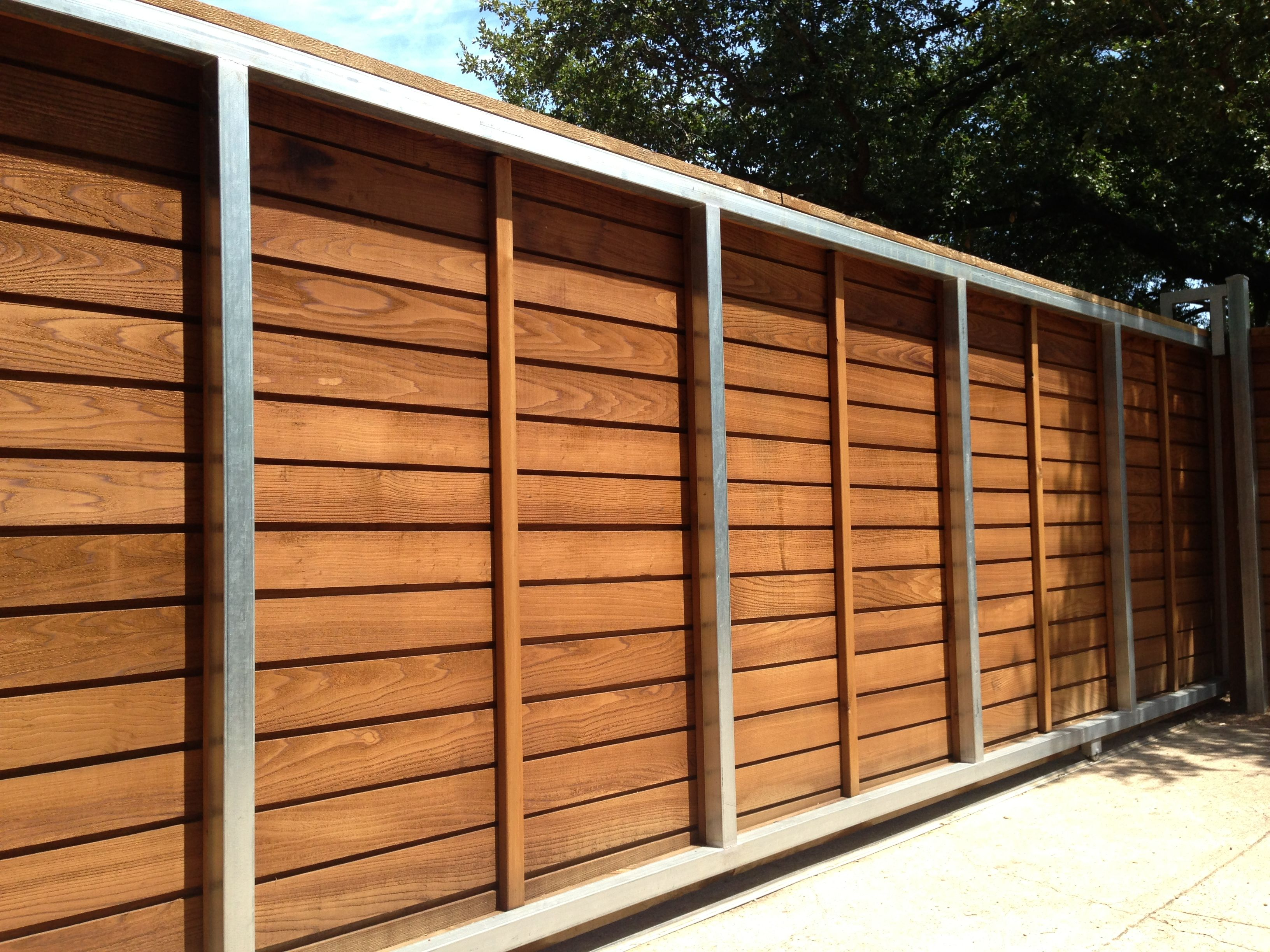 Horizontal driveway gate fences in a row pinterest