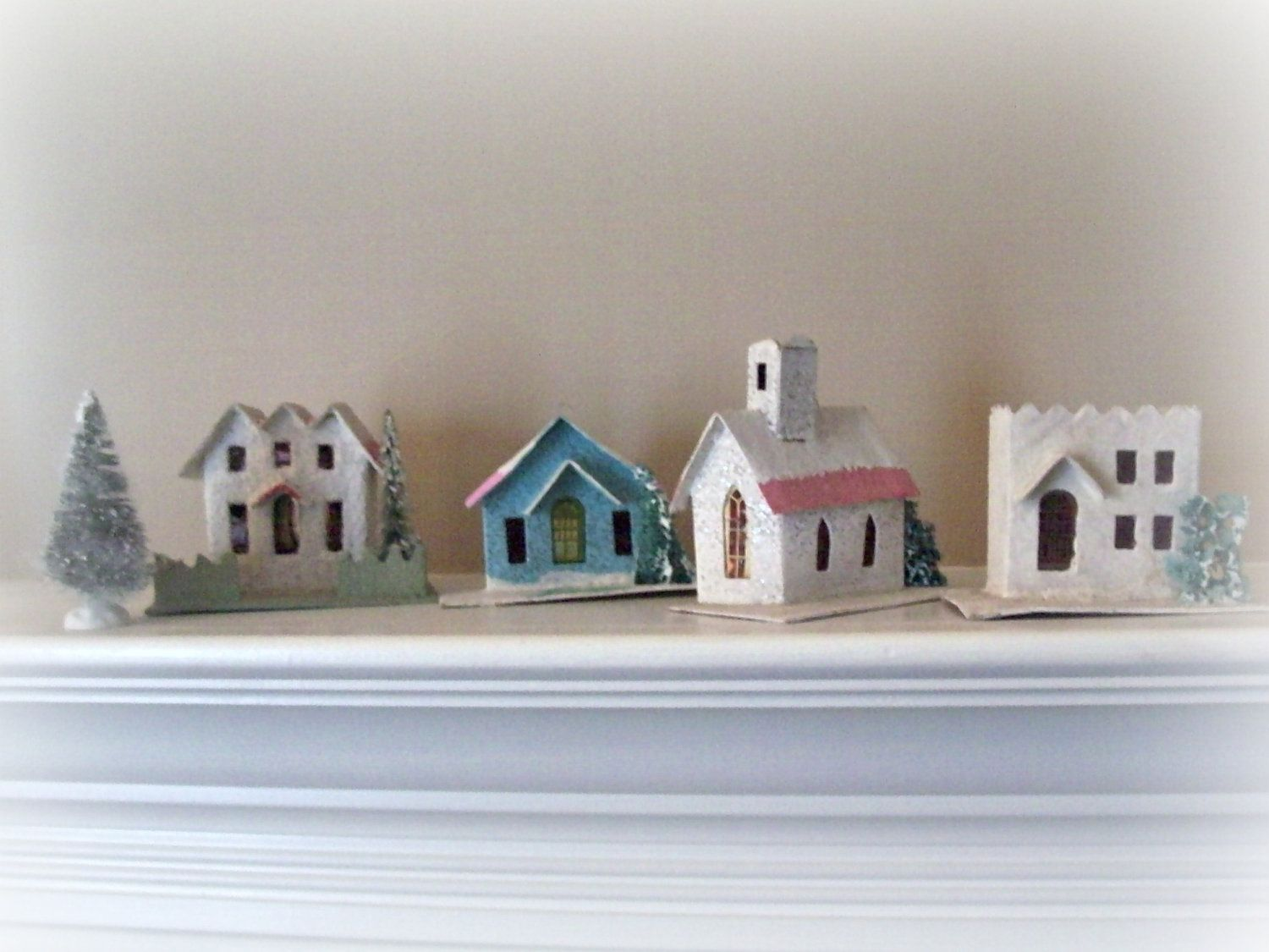 Putz Houses | Glittered Putz and Paper Houses and Villages ...