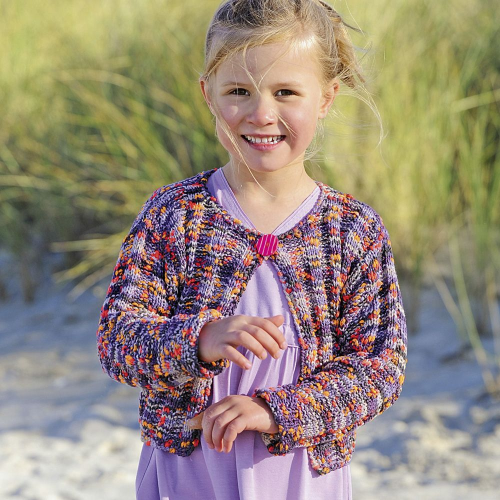 Вязание для девочек из меланжевой пряжи